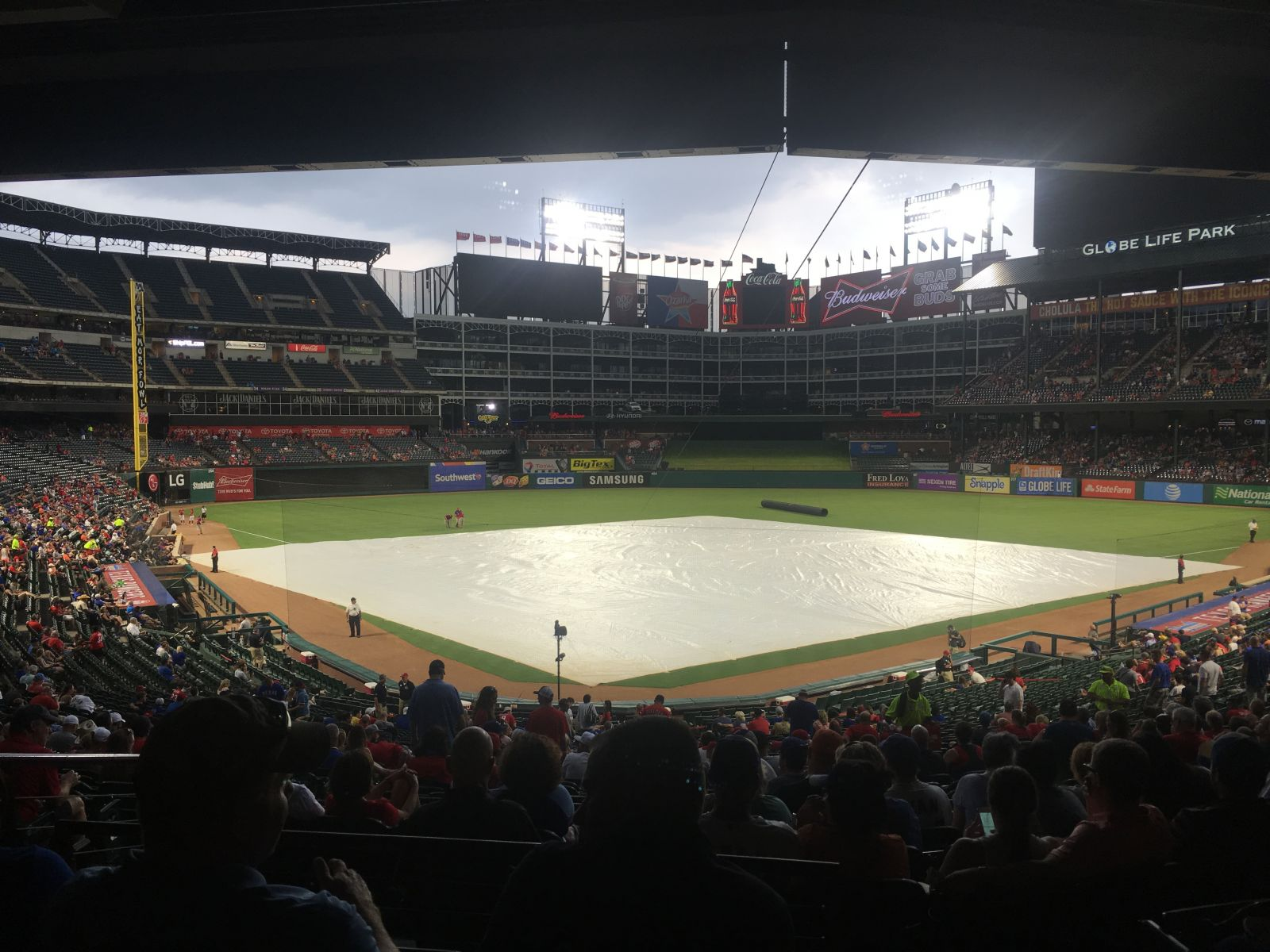 Seat View for Globe Life Park Section 127, Row 36, Seat 3
