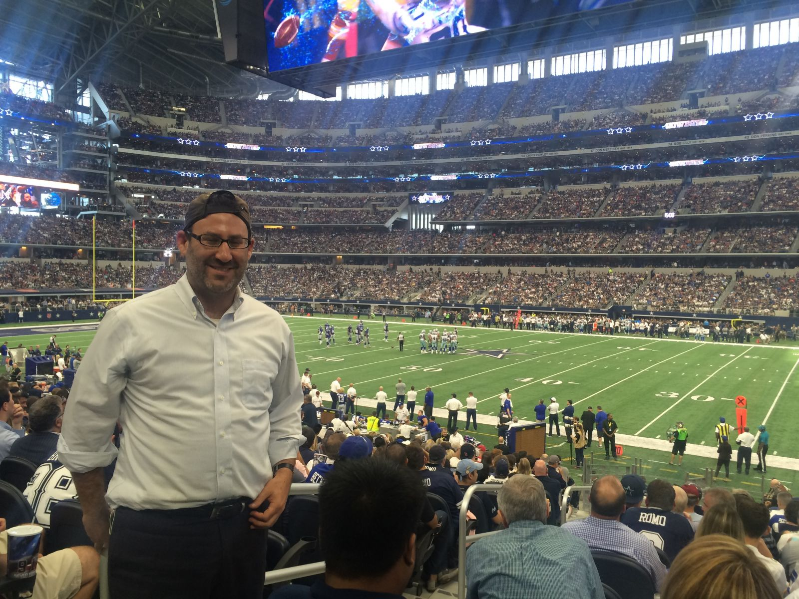 Dallas Cowboys Seat View for AT&T Stadium Section C133, Row 18, Seat 20