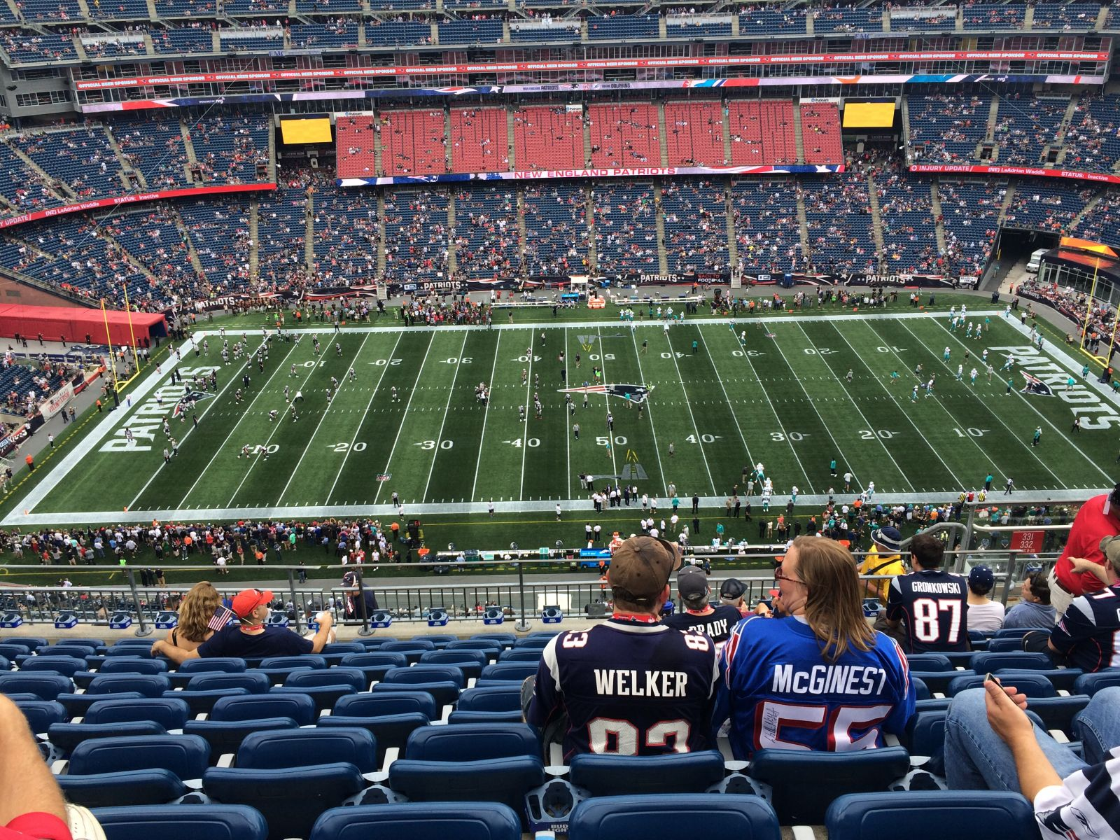 New England Patriots Seat View for Gillette Stadium Section 332, Row 16, Seat 8