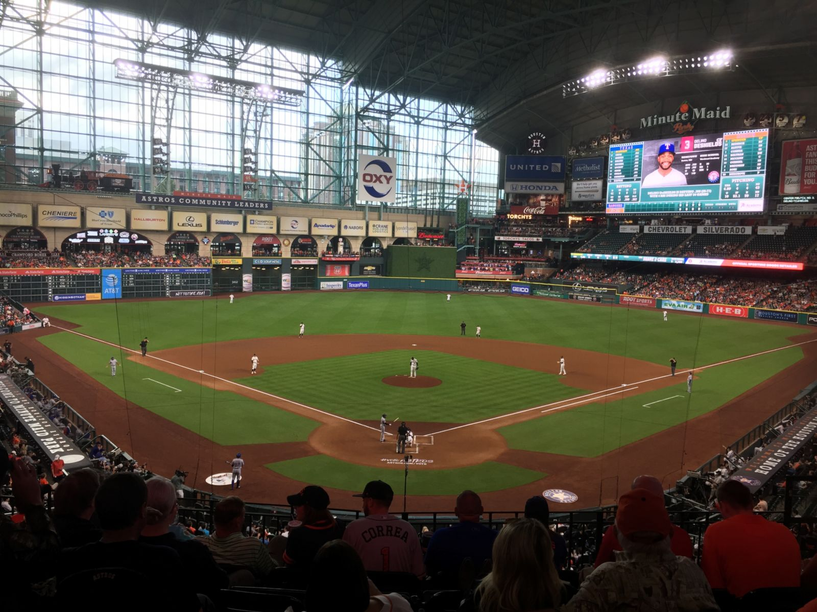 Seat View for Minute Maid Park Section 219, Row 6, Seat 9