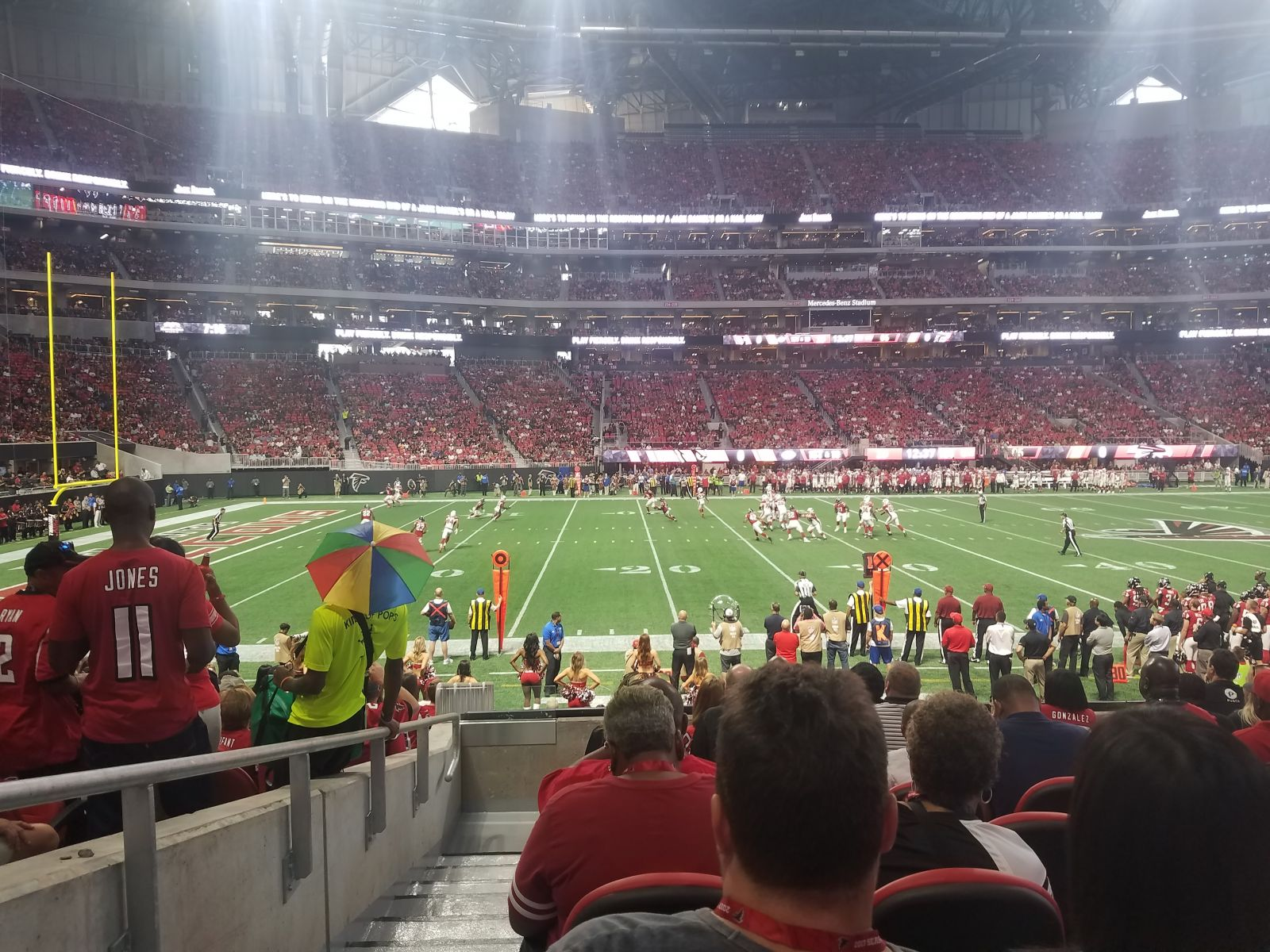 Atlanta Falcons Seat View for Mercedes-Benz Stadium Club 112, Row 8