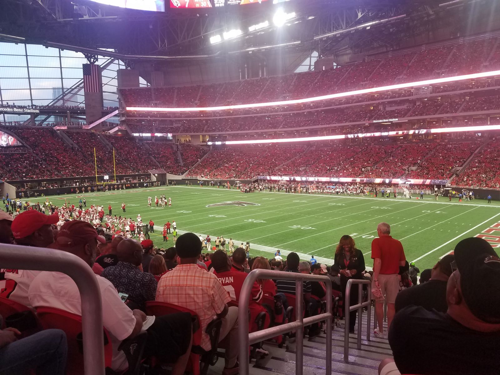 Atlanta Falcons Seat View for Mercedes-Benz Stadium Section 123, Row 31
