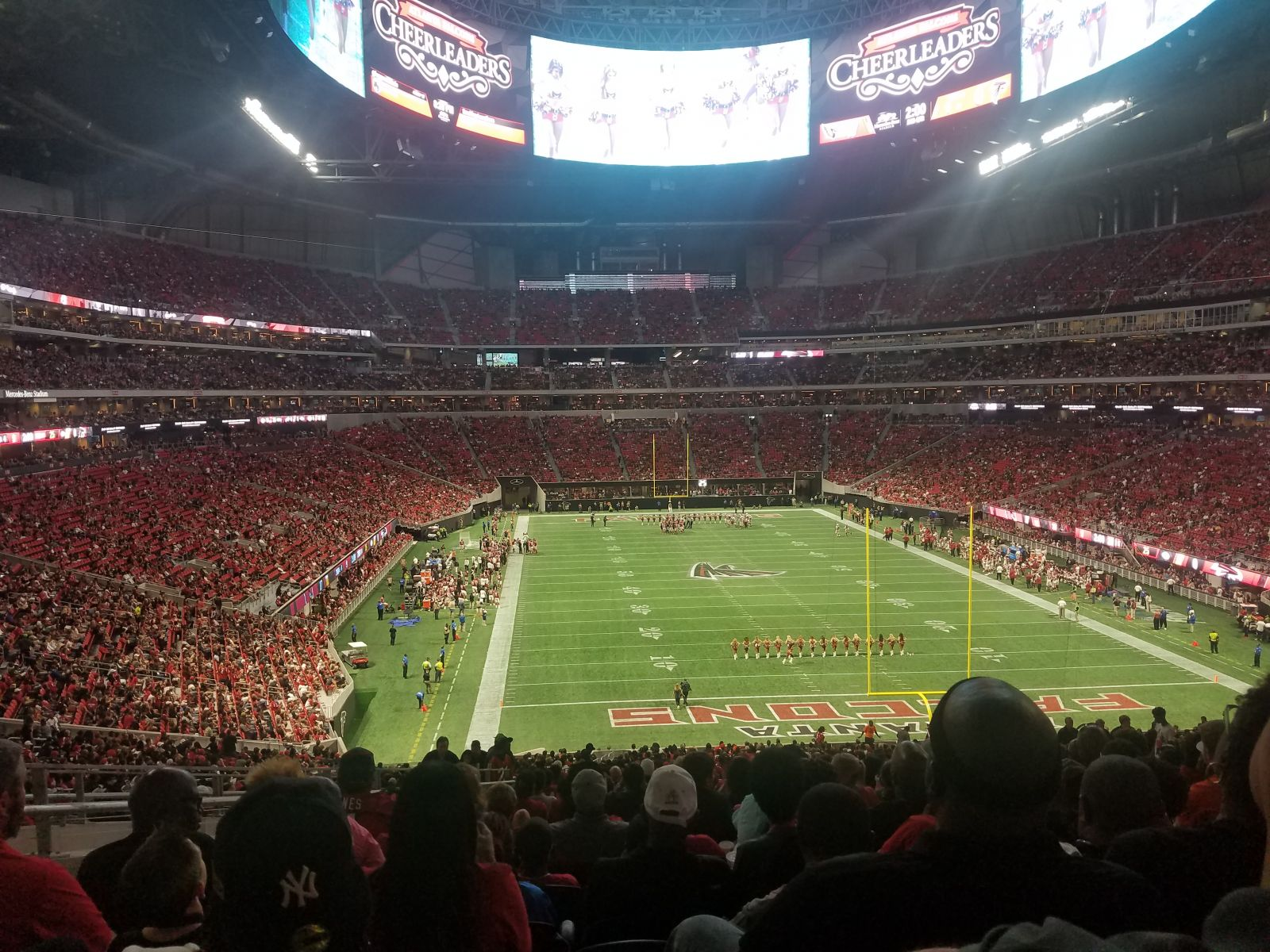 Atlanta Falcons Seat View for Mercedes-Benz Stadium Section 102, Row 58