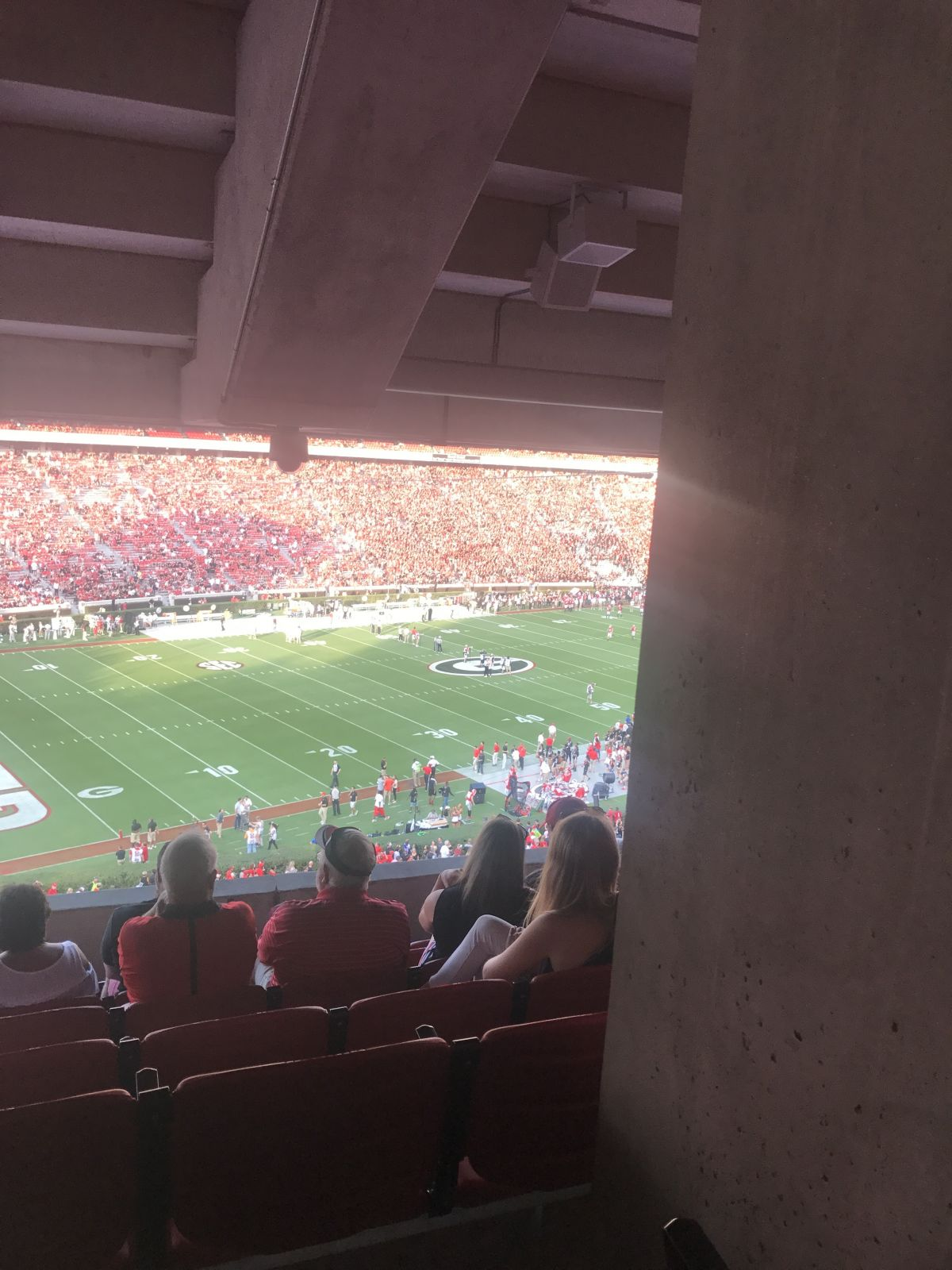 Seat View for Sanford Stadium Section 236, Row 7, Seat 10