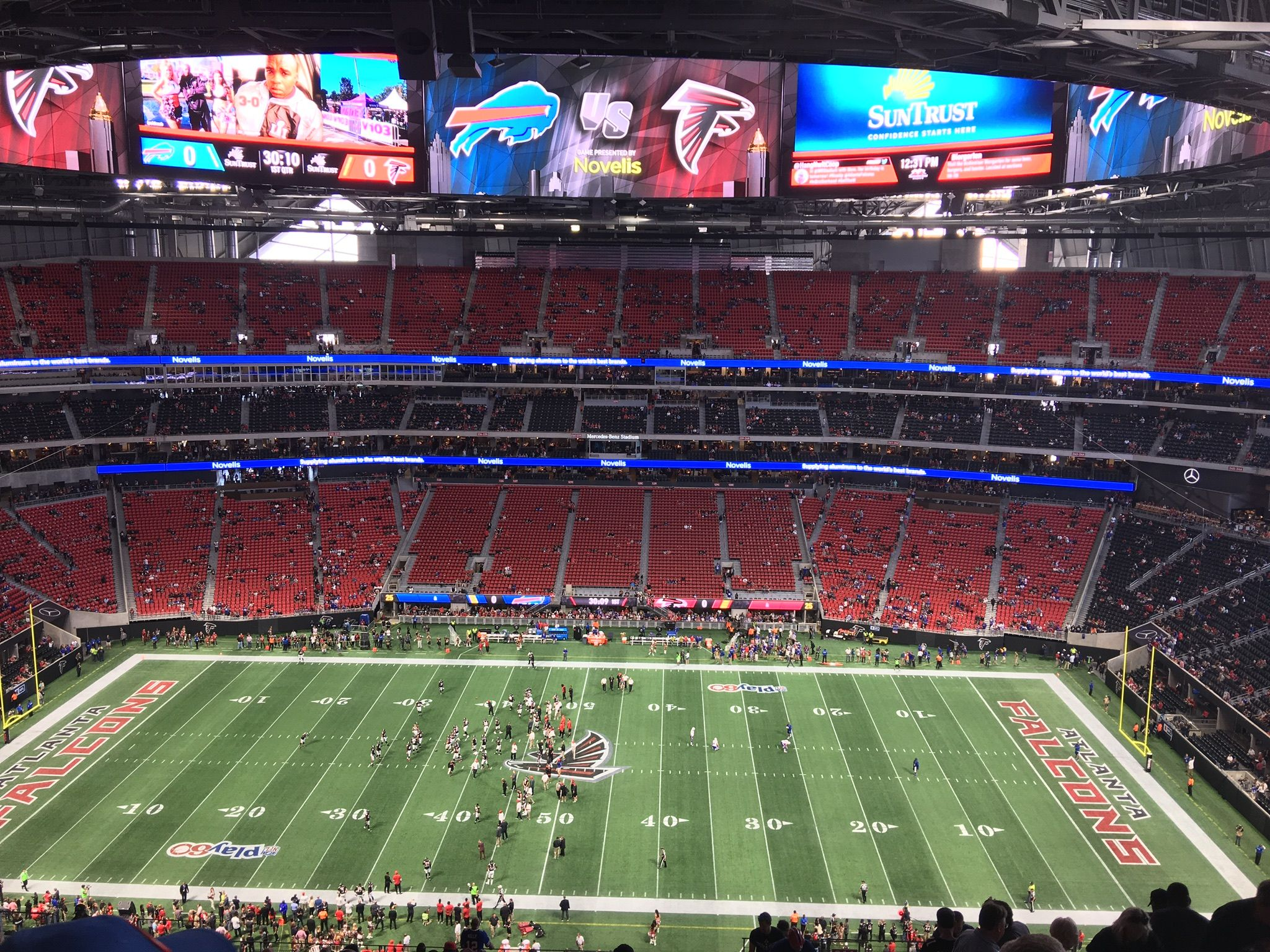 Atlanta Falcons Seat View for Mercedes-Benz Stadium Section 311, Row 23, Seat 7