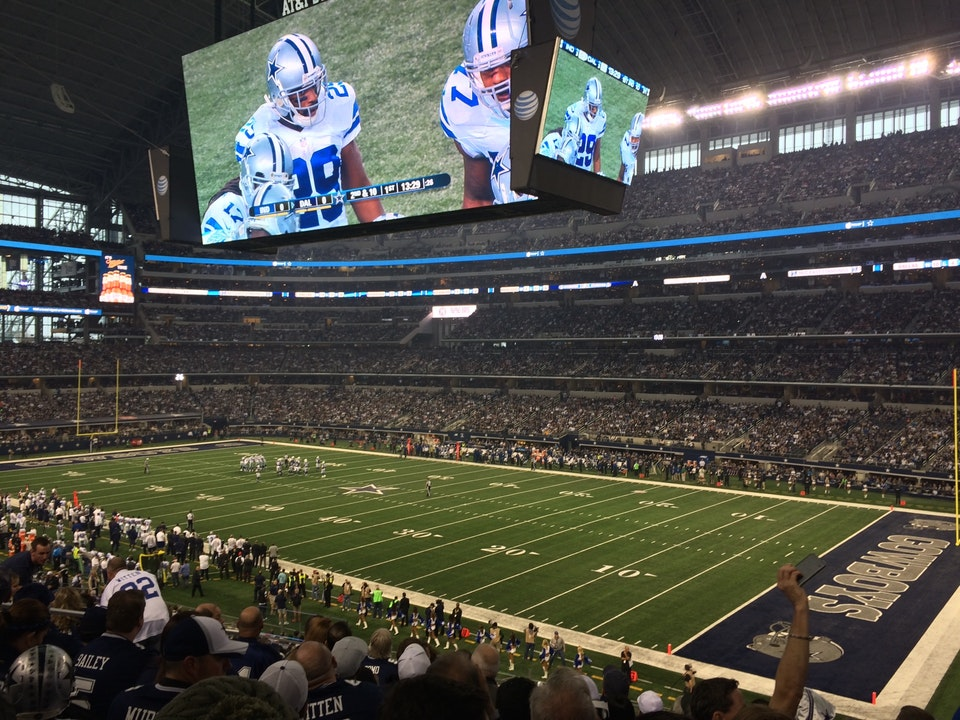 Dallas Cowboys Seat View for AT&T Stadium Section 205