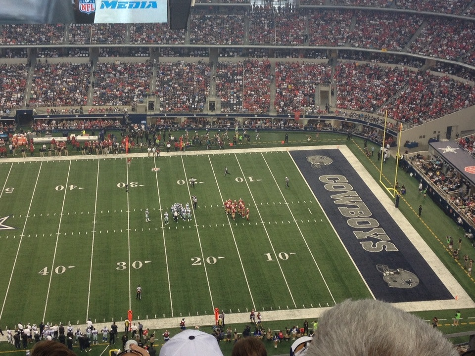 Dallas Cowboys Seat View for AT&T Stadium Section 411