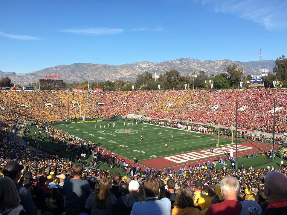 Seat View for Rose Bowl Stadium Section 23, Row 68