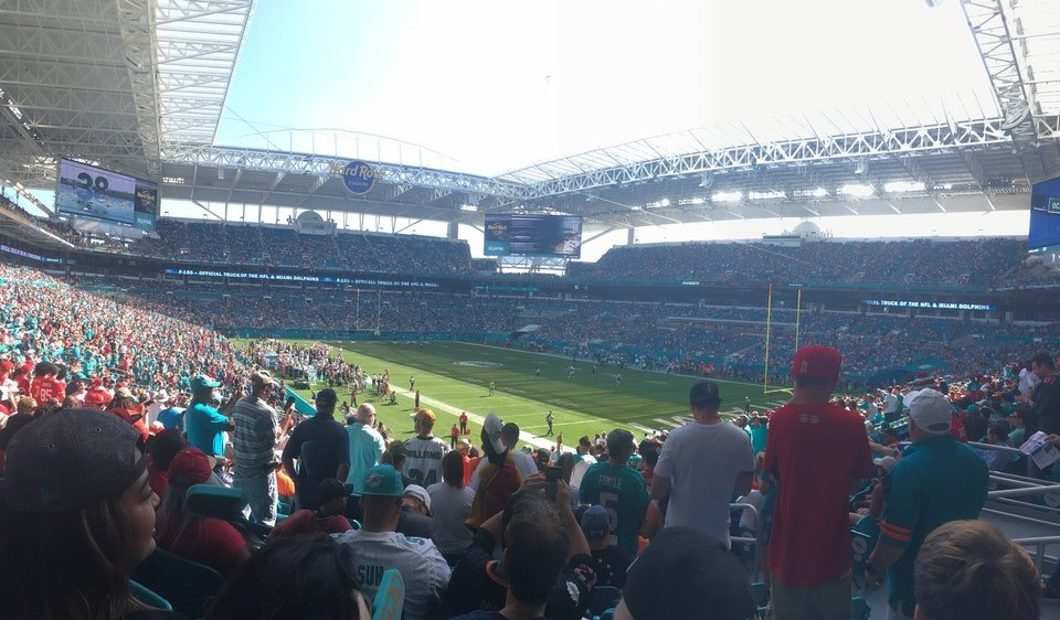 Seat View for Hard Rock Stadium Section 209