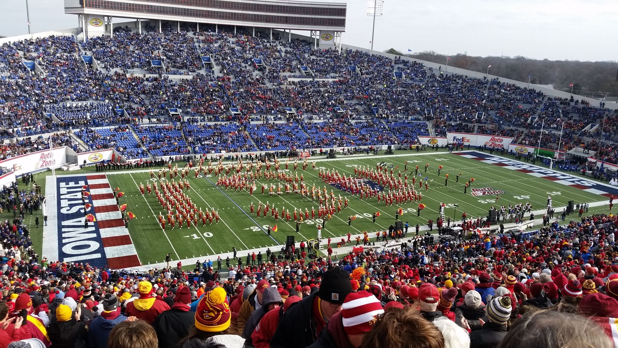 Seat View for Liberty Bowl Section 108, Row 81, Seat 1