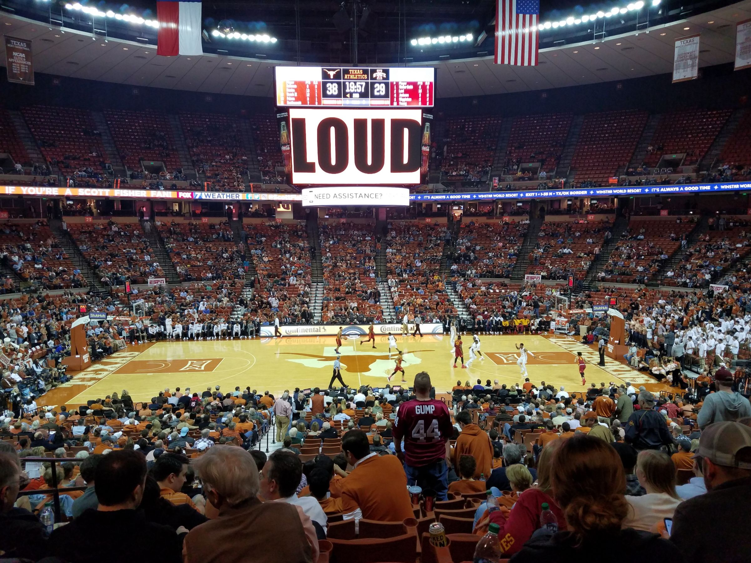 Seat View for Frank Erwin Center Section 35, Row 30