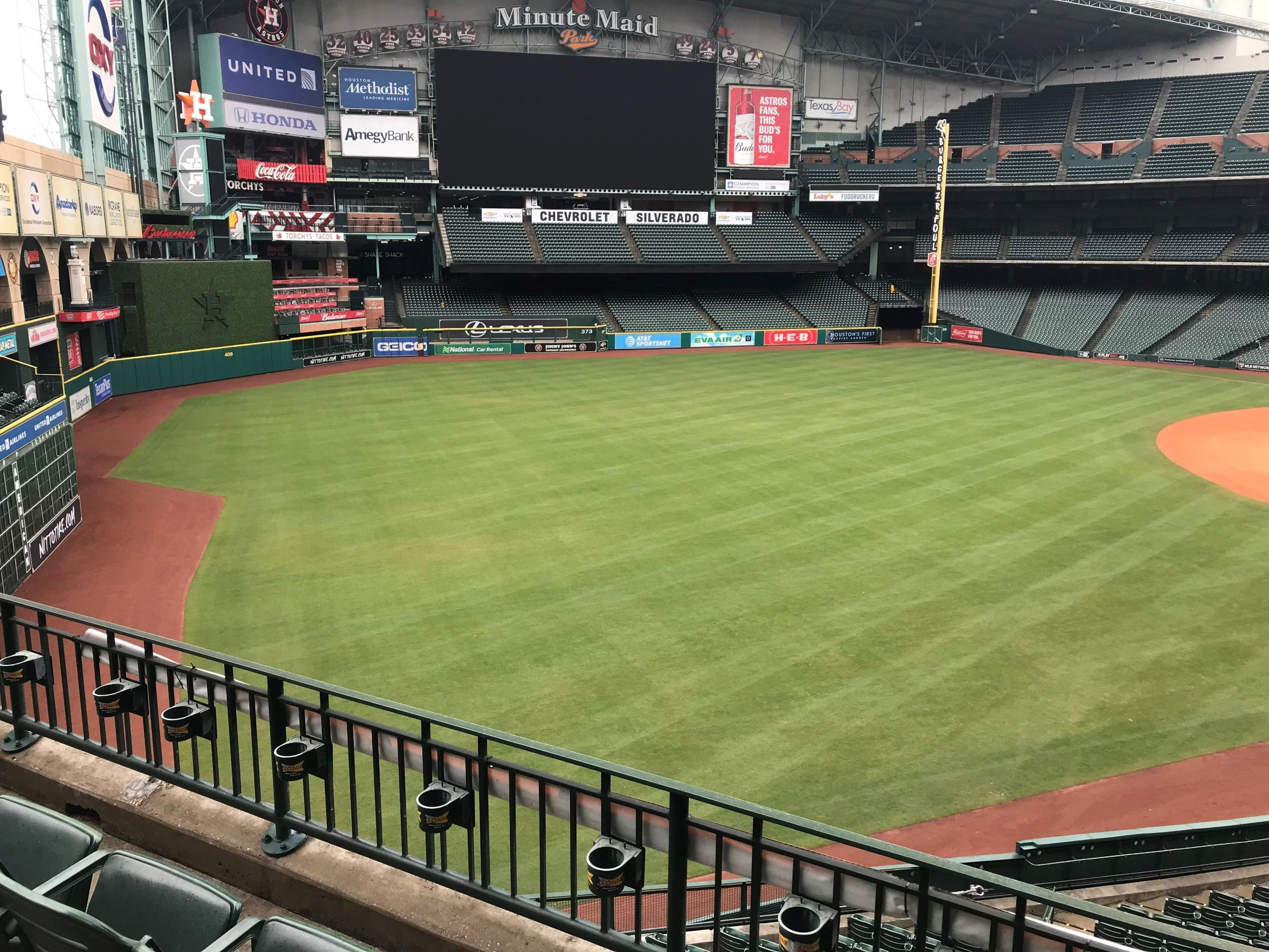 Seat View for Minute Maid Park Section 205, Row 3, Seat 9