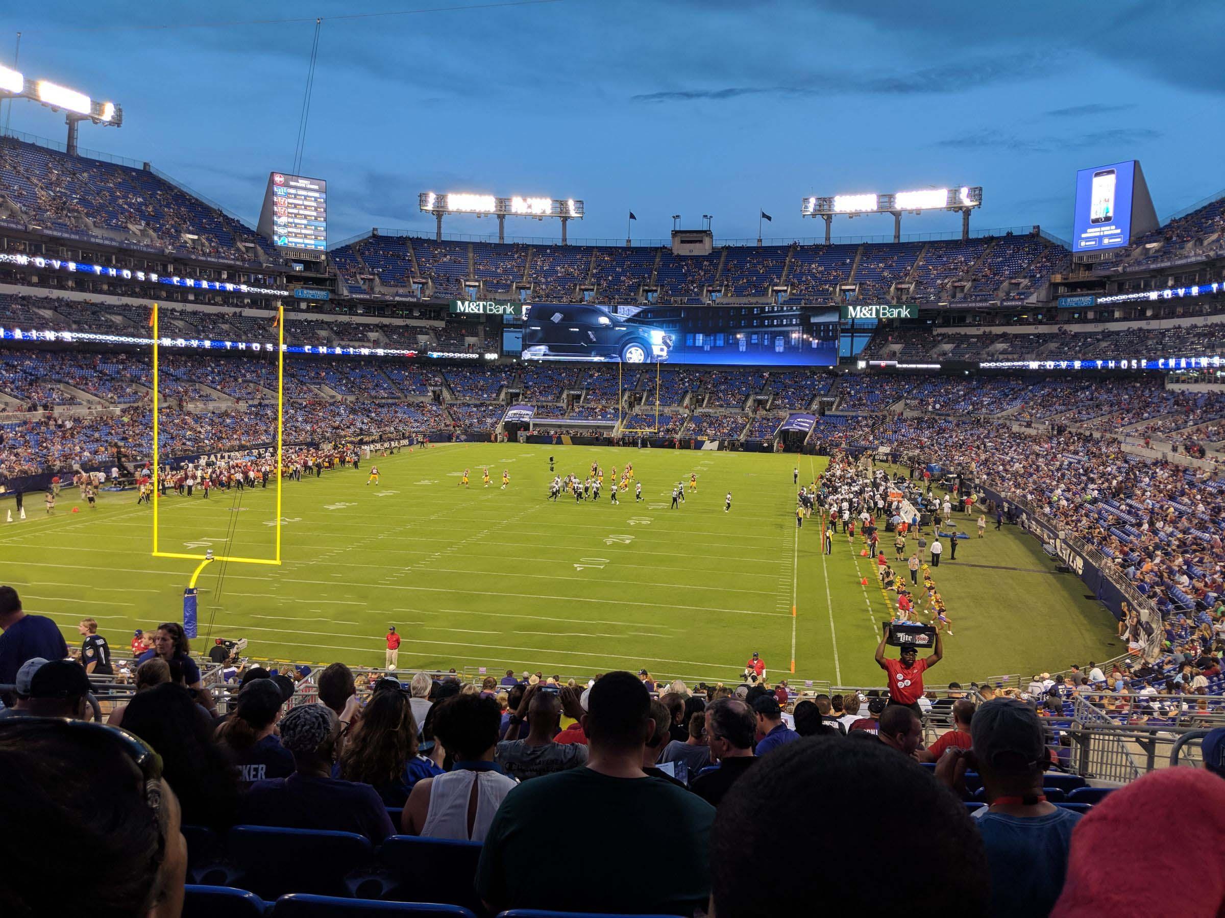 Mt Bank Stadium Section 138 Baltimore Ravens