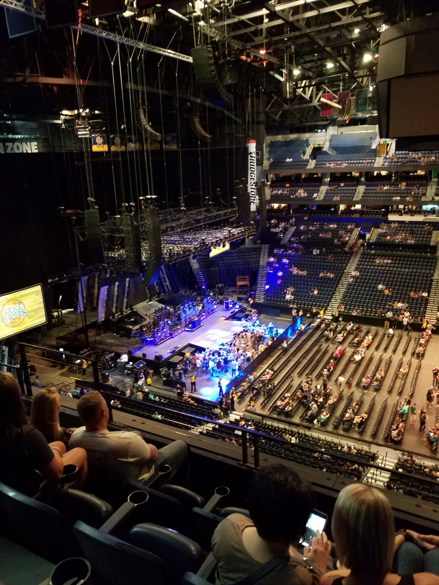 Concert Seat View for Bridgestone Arena Section 326, Row D, Seat 11