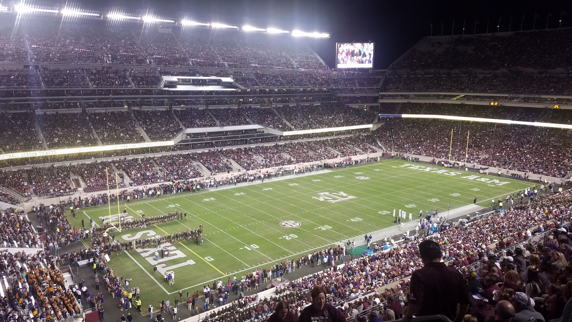 Seat View for Kyle Field Section 340, Row 14, Seat 3