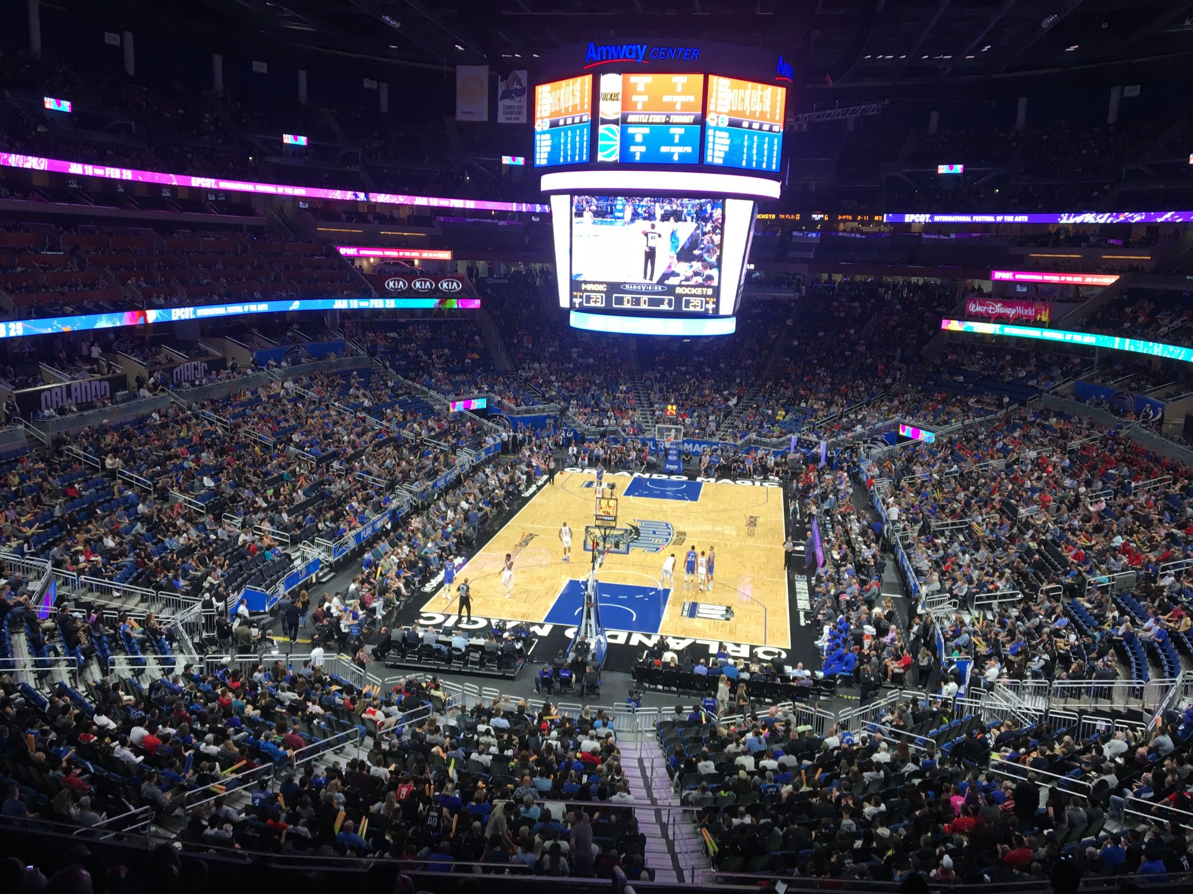 Seat View for Amway Center Section 110A, Row 29, Seat 2