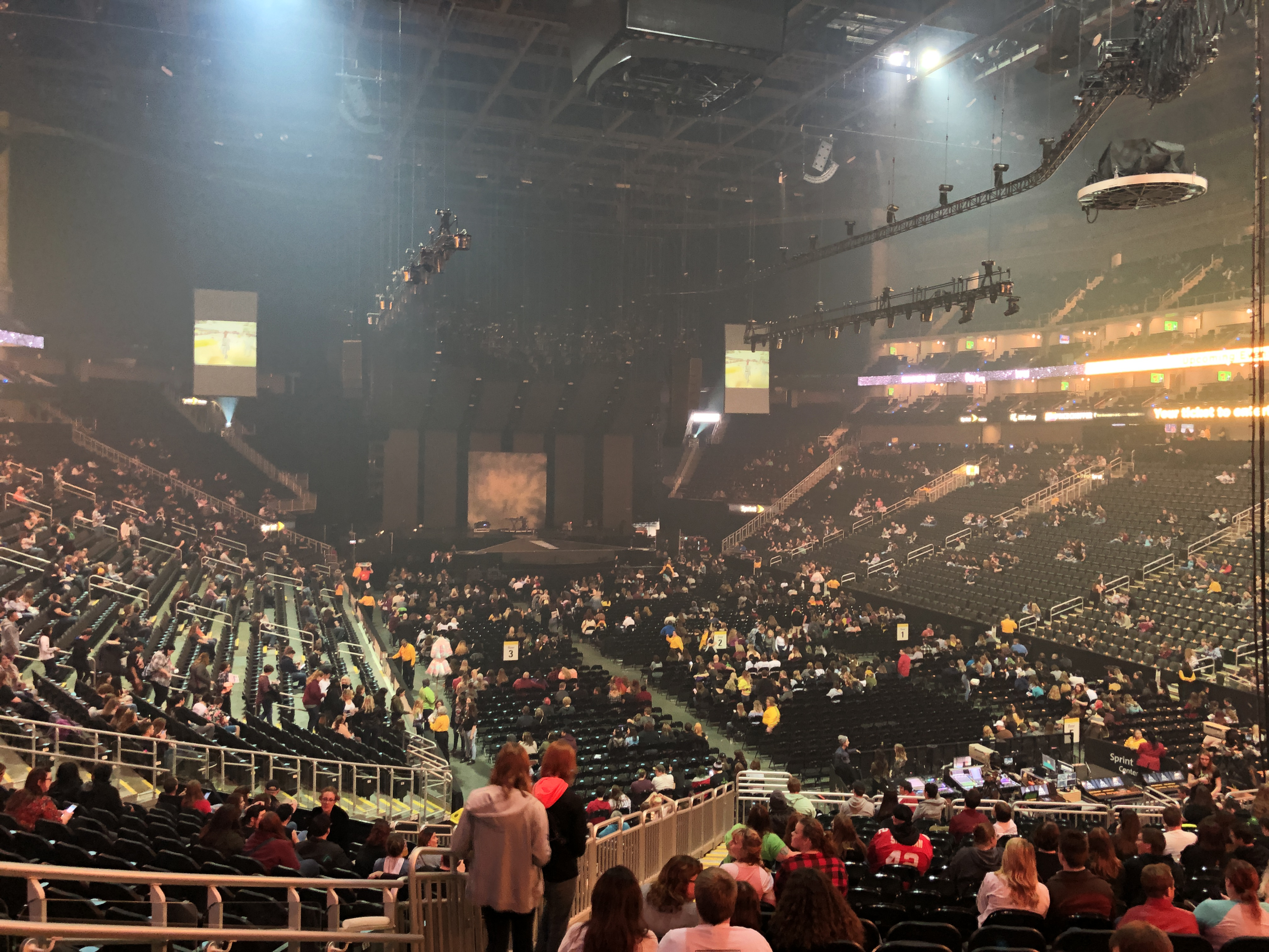 Concert Seat View for Sprint Center Section 102, Row 16