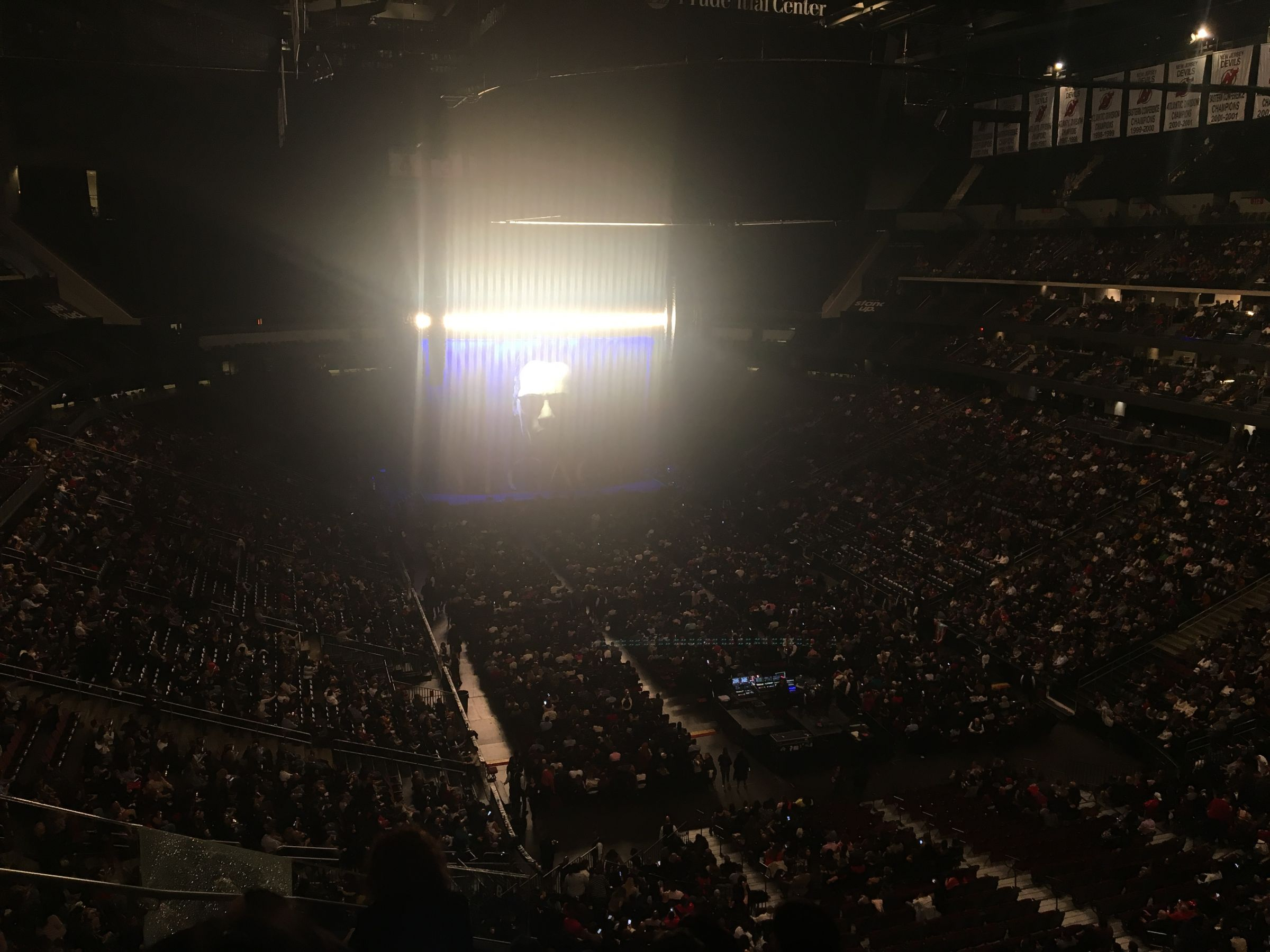 Concert Seat View for Prudential Center Section 101, Row 9, Seat 12