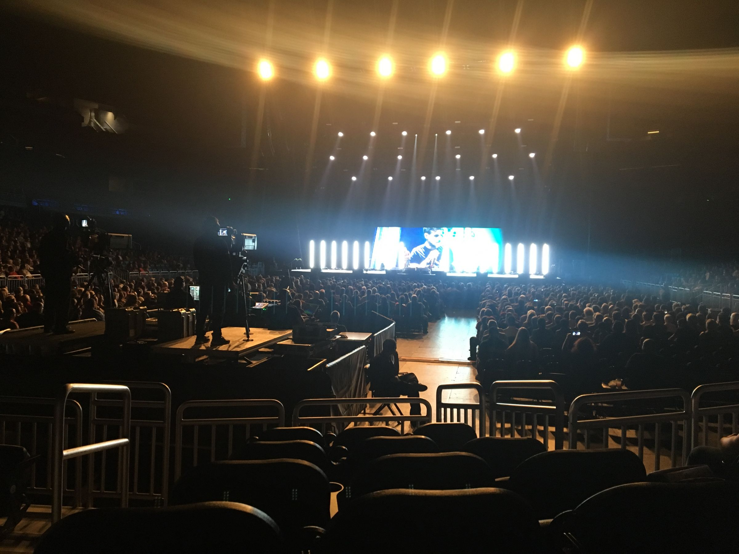 Concert Seat View for Amway Center Section 109, Row 2, Seat 5
