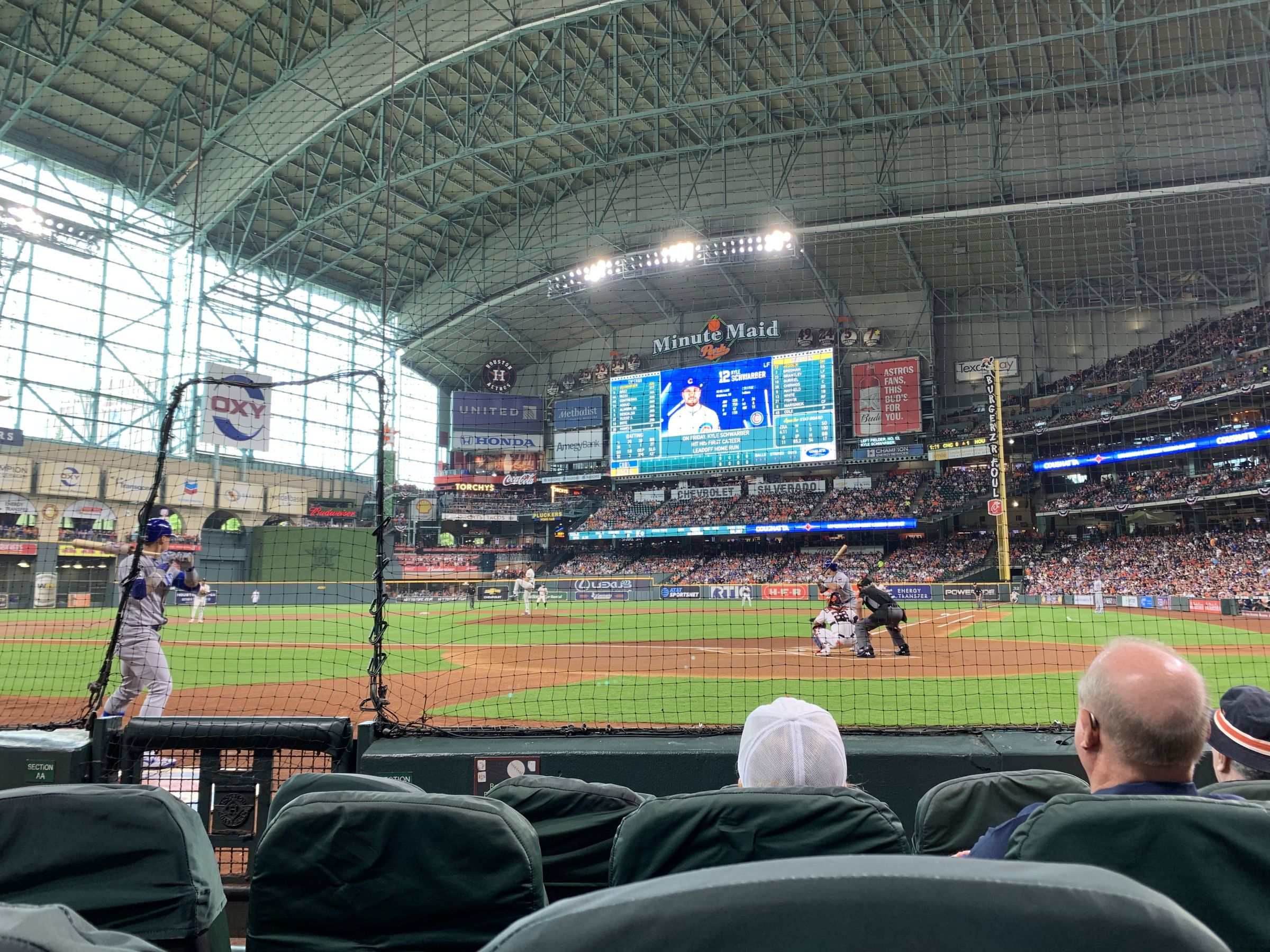 Seat View for Minute Maid Park Diamond Club, Row 4, Seat 3