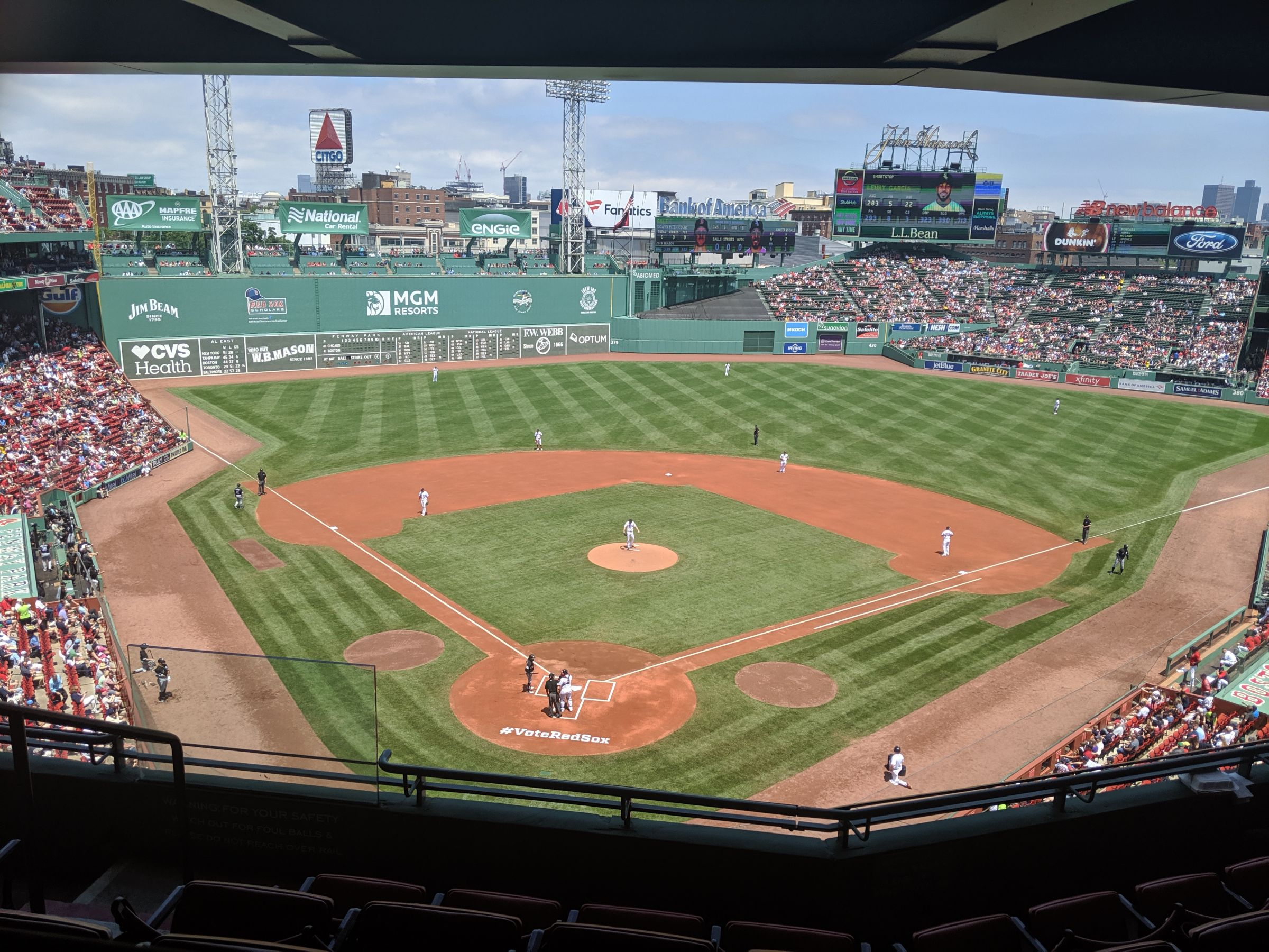 Seat View for Fenway Park Home Plate Pavilion Club 2, Row 5