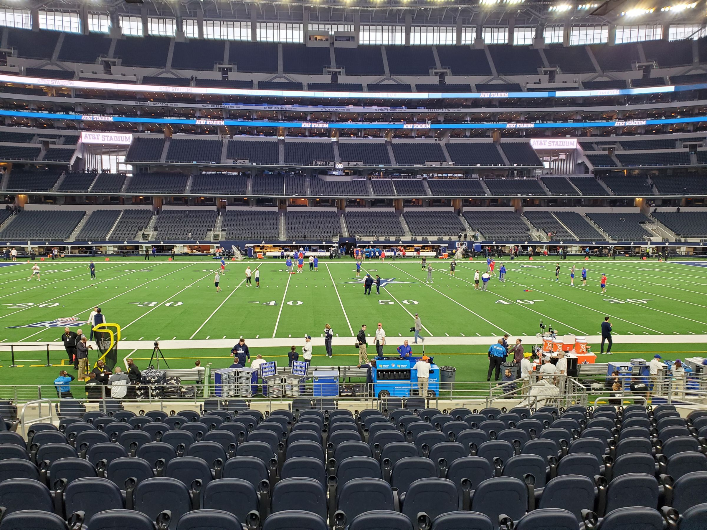 Dallas Cowboys Seat View for AT&T Stadium Section C111, Row 16, Seat 11