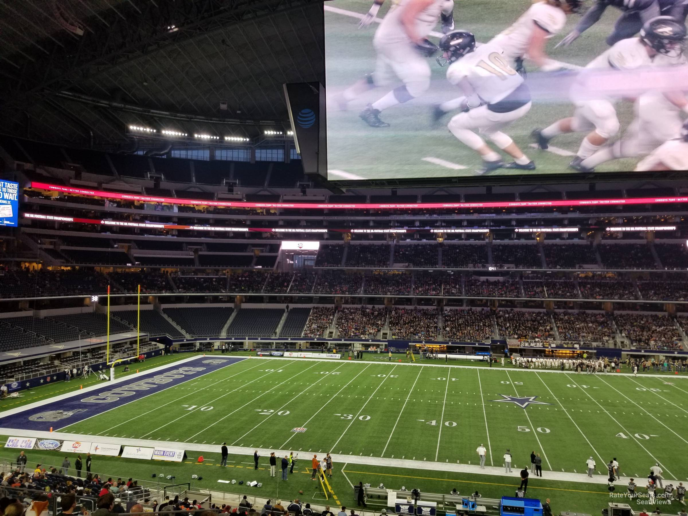 Dallas Cowboys Seat View for AT&T Stadium Section C210, Row 10