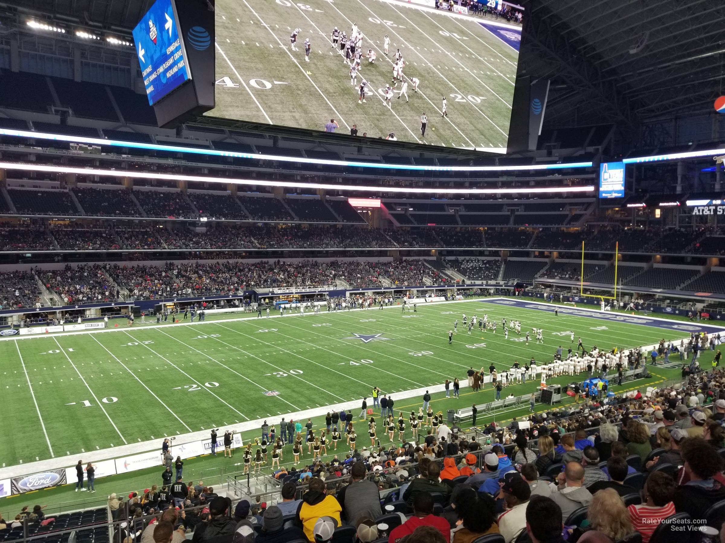 Dallas Cowboys Seat View for AT&T Stadium Section C239, Row 10