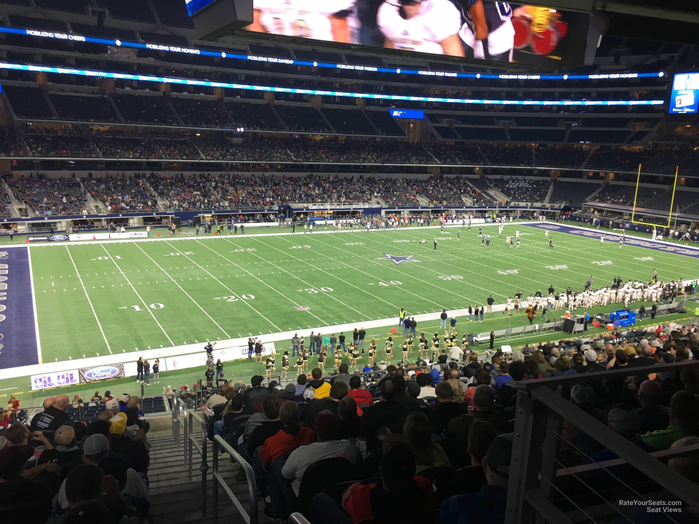 Dallas Cowboys Seat View for AT&T Stadium Section C239, Row 14