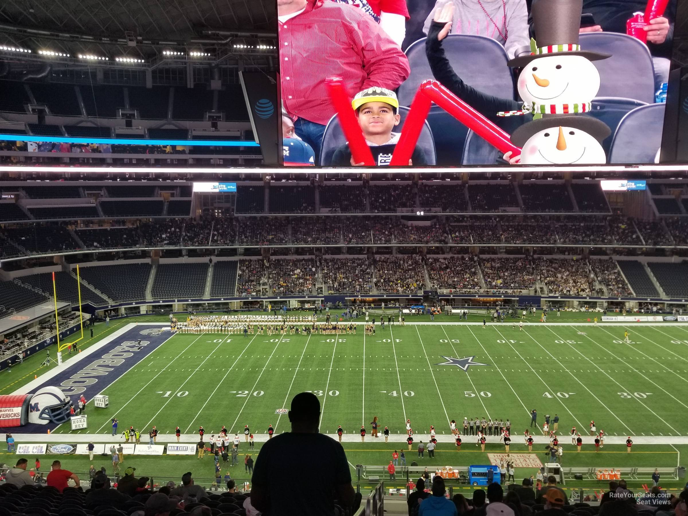 Dallas Cowboys Seat View for AT&T Stadium Section C311, Row 10