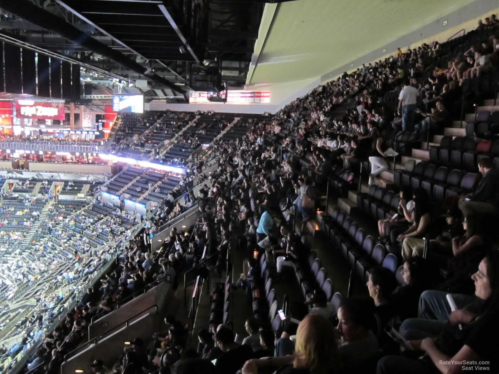 Sideline Sections 222-226 at the AT&T Center