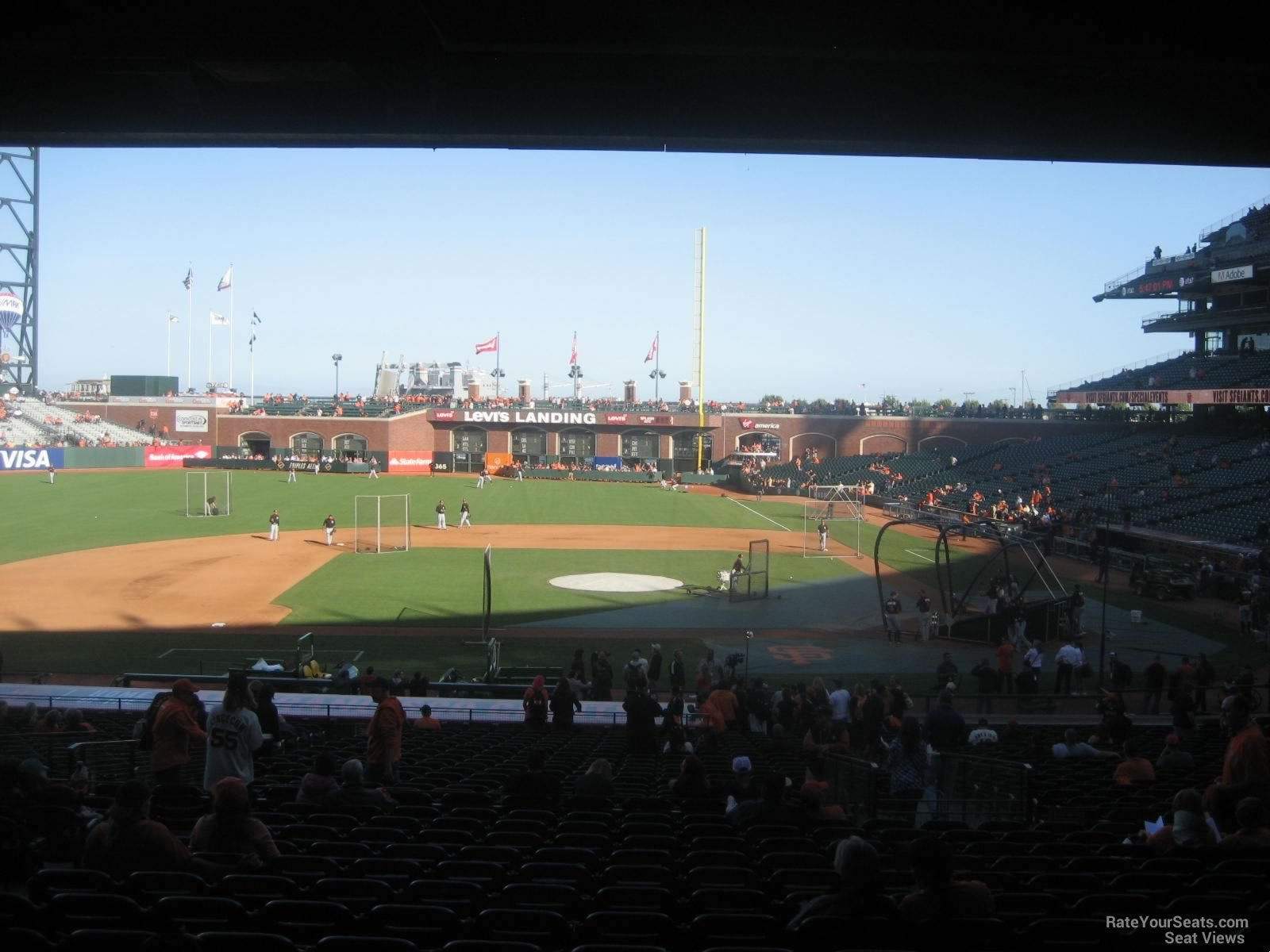 San Francisco Giants Seat View for Oracle Park Section 122, Row 38