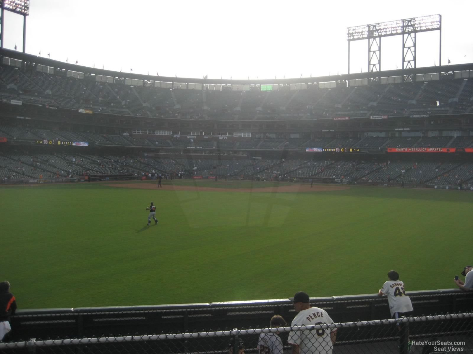 San Francisco Giants Seat View for Oracle Park Section 143, Row 10