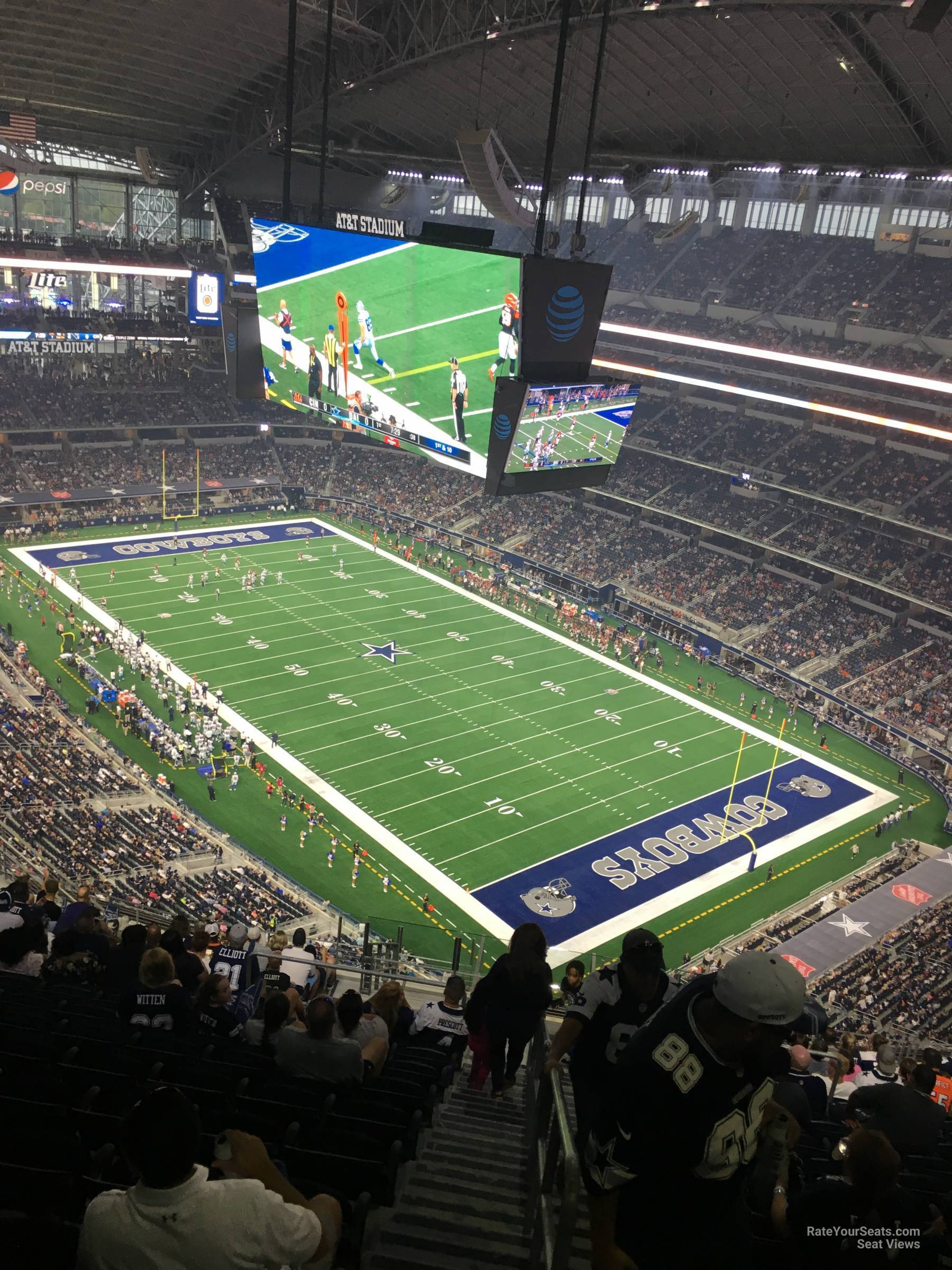 Att Stadium Section 405 Dallas Cowboys Rateyourseatscom