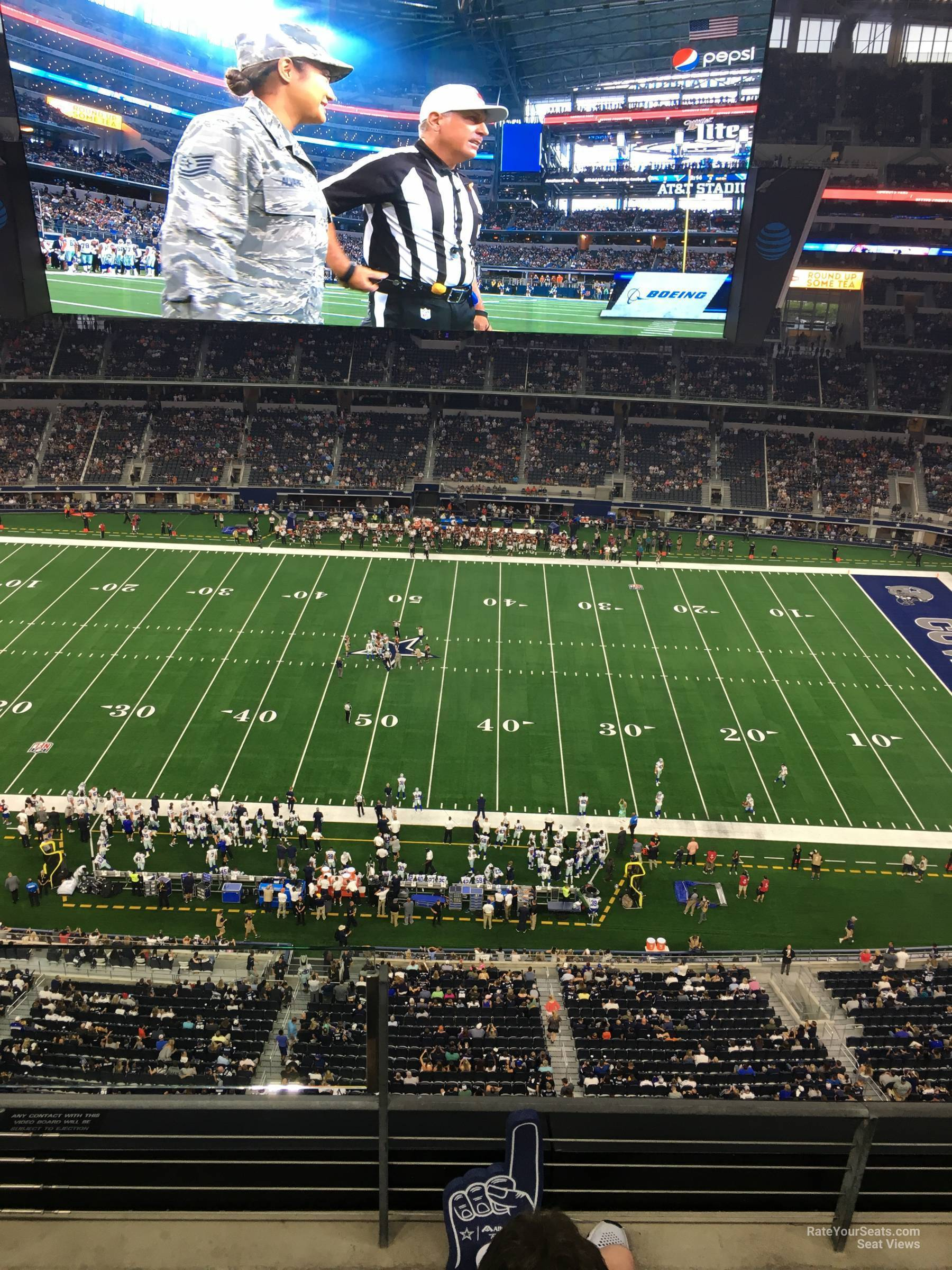 Dallas Cowboys Seat View for AT&T Stadium Section 411, Row 4