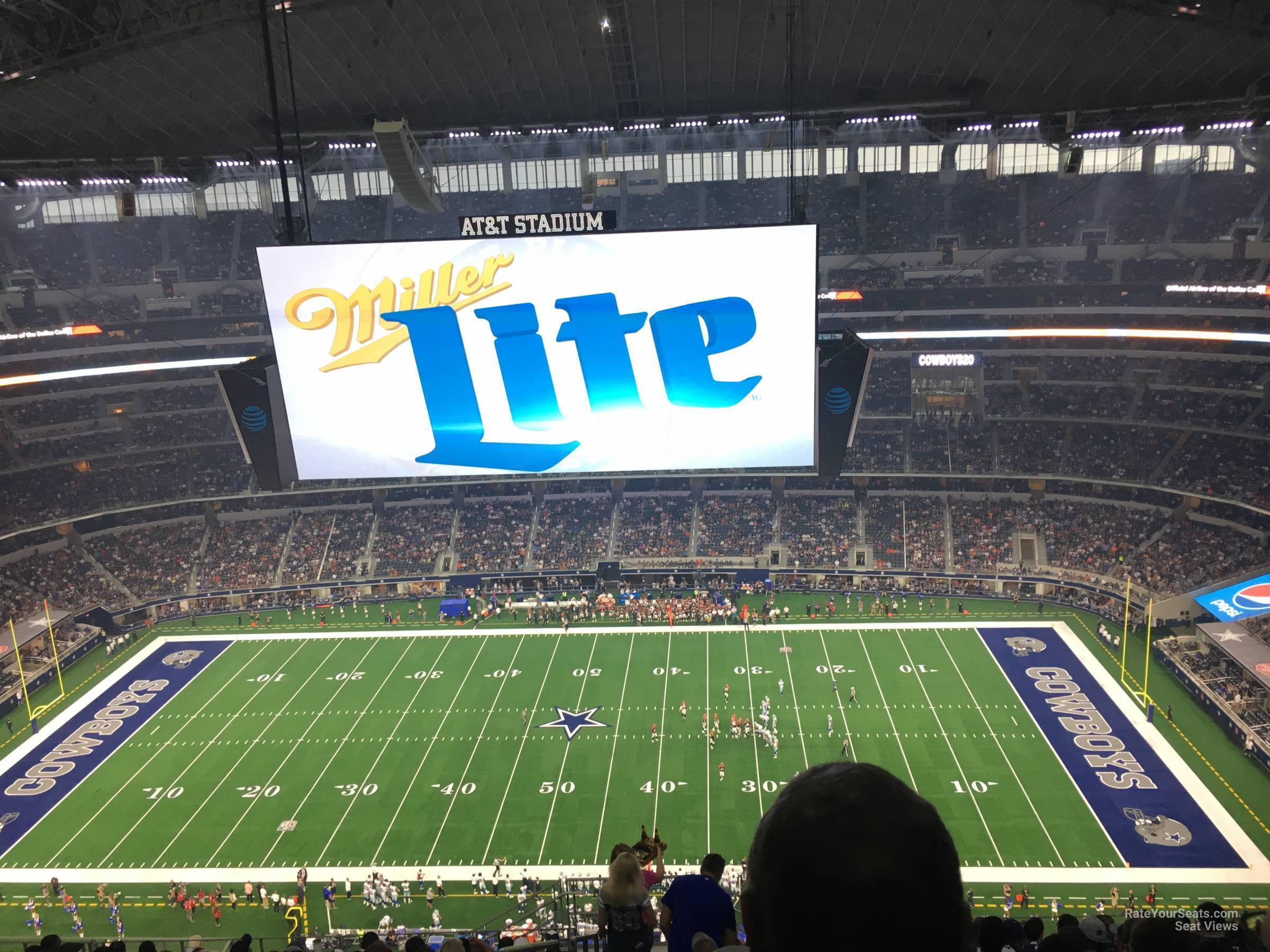 Dallas Cowboys Seat View for AT&T Stadium Section 412, Row 22