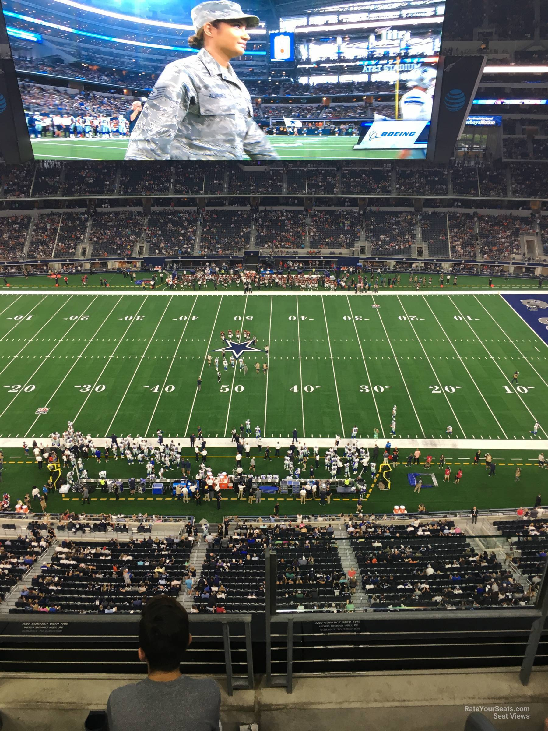 Dallas Cowboys Seat View for AT&T Stadium Section 412, Row 4