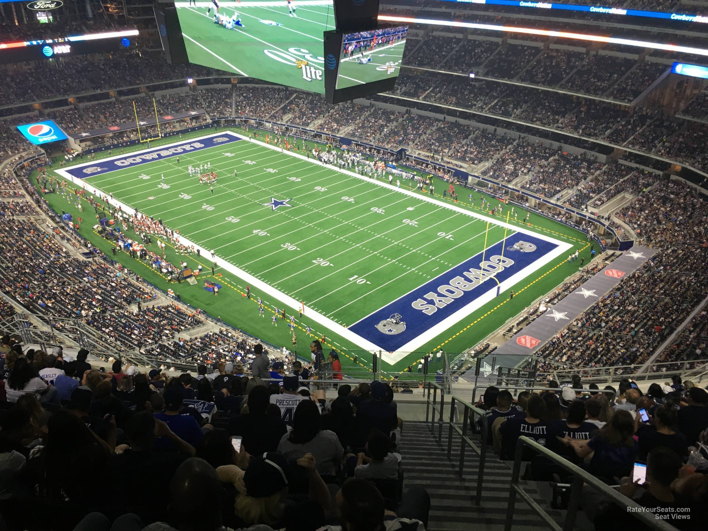 Dallas Cowboys Seat View for AT&T Stadium Section 427, Row 22