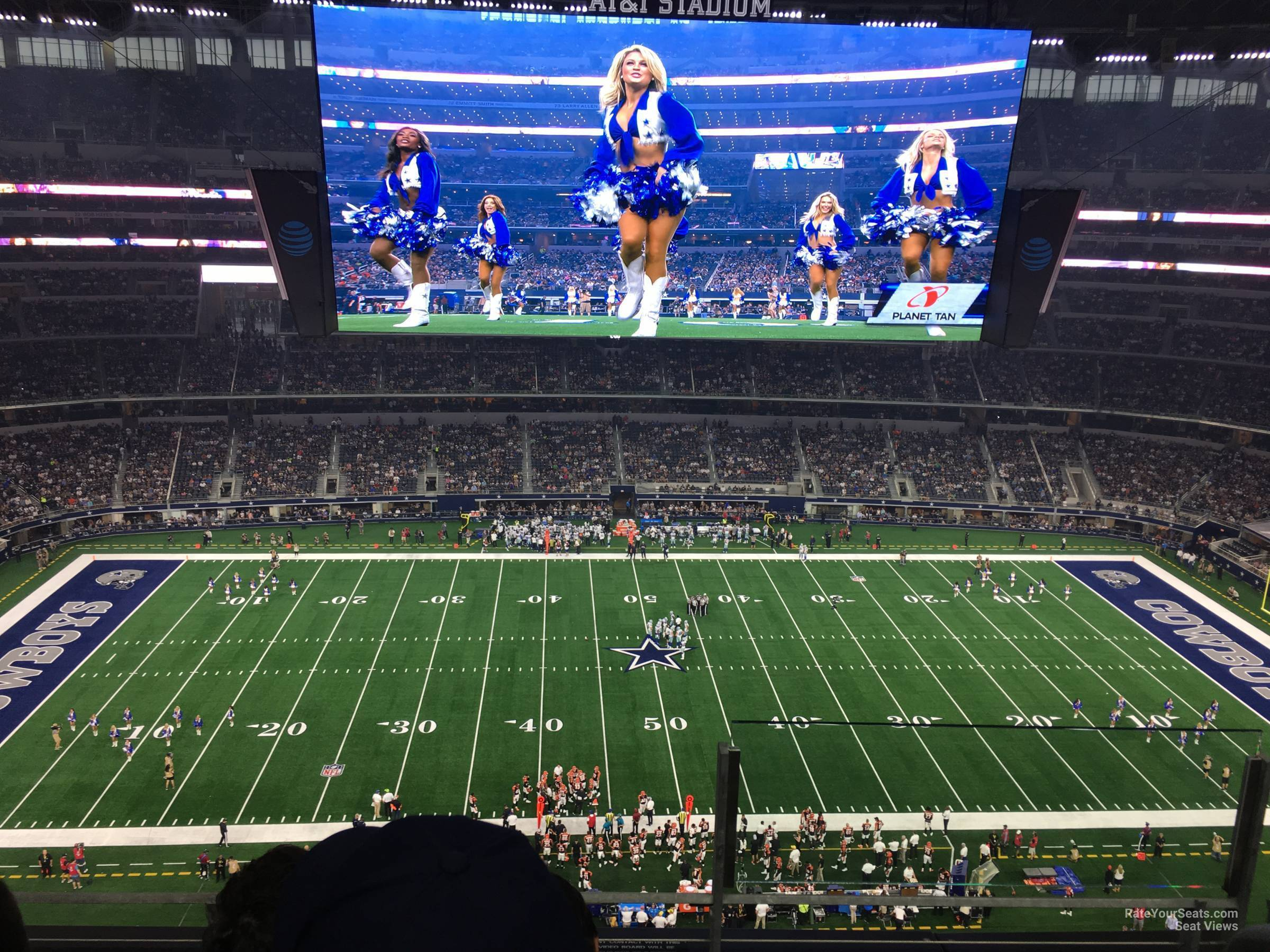 Dallas Cowboys Seat View for AT&T Stadium Section 443, Row 4