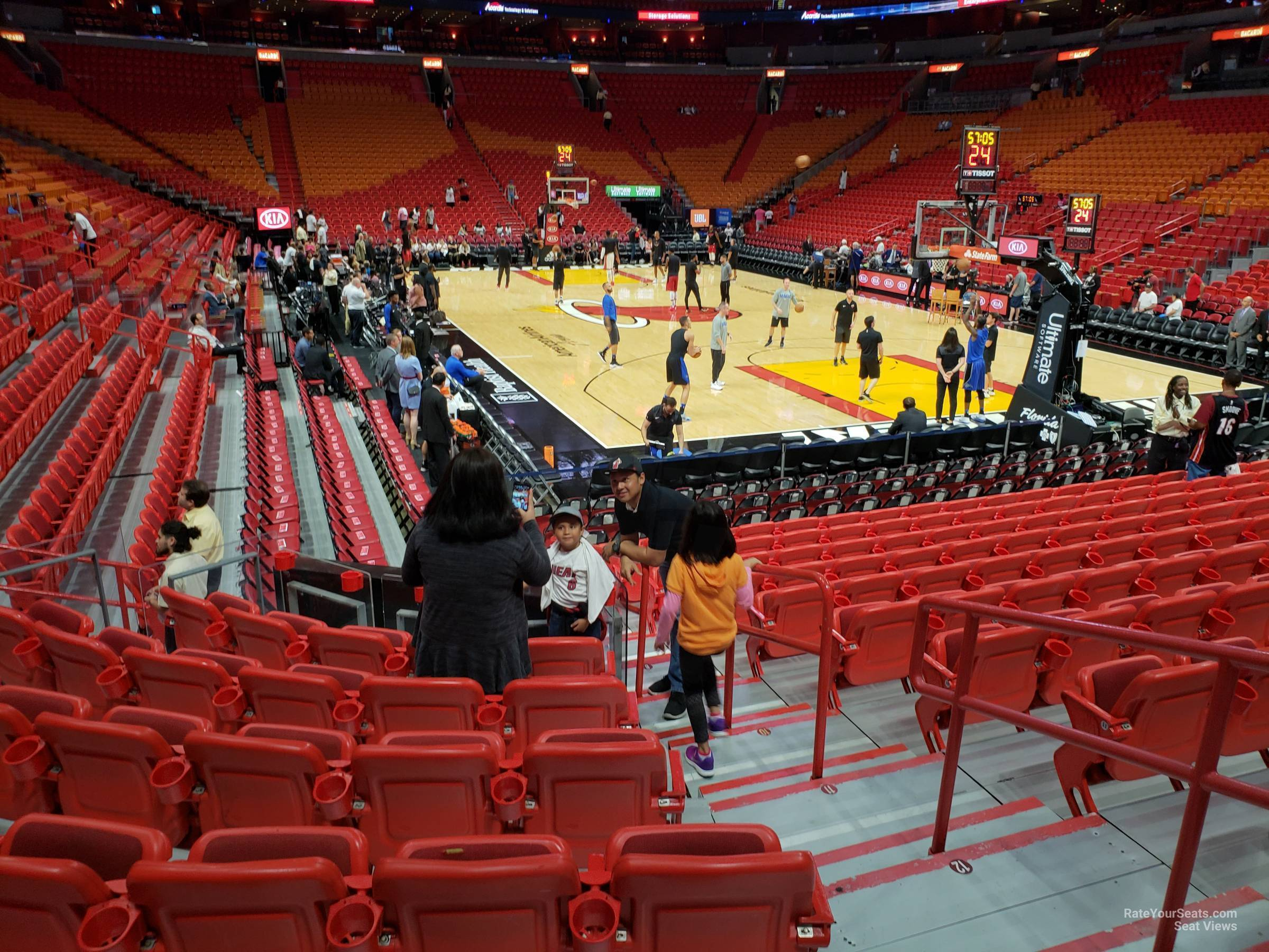 section 102 at americanairlines arena - miami heat