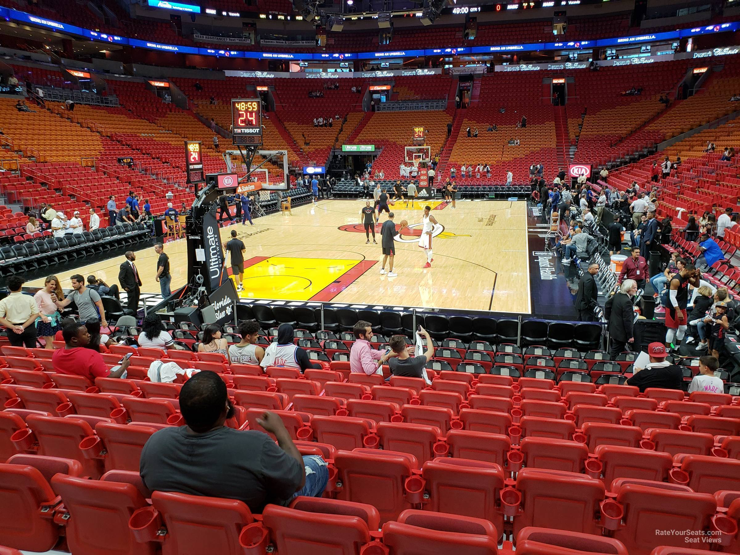 americanairlines arena section 112 - miami heat