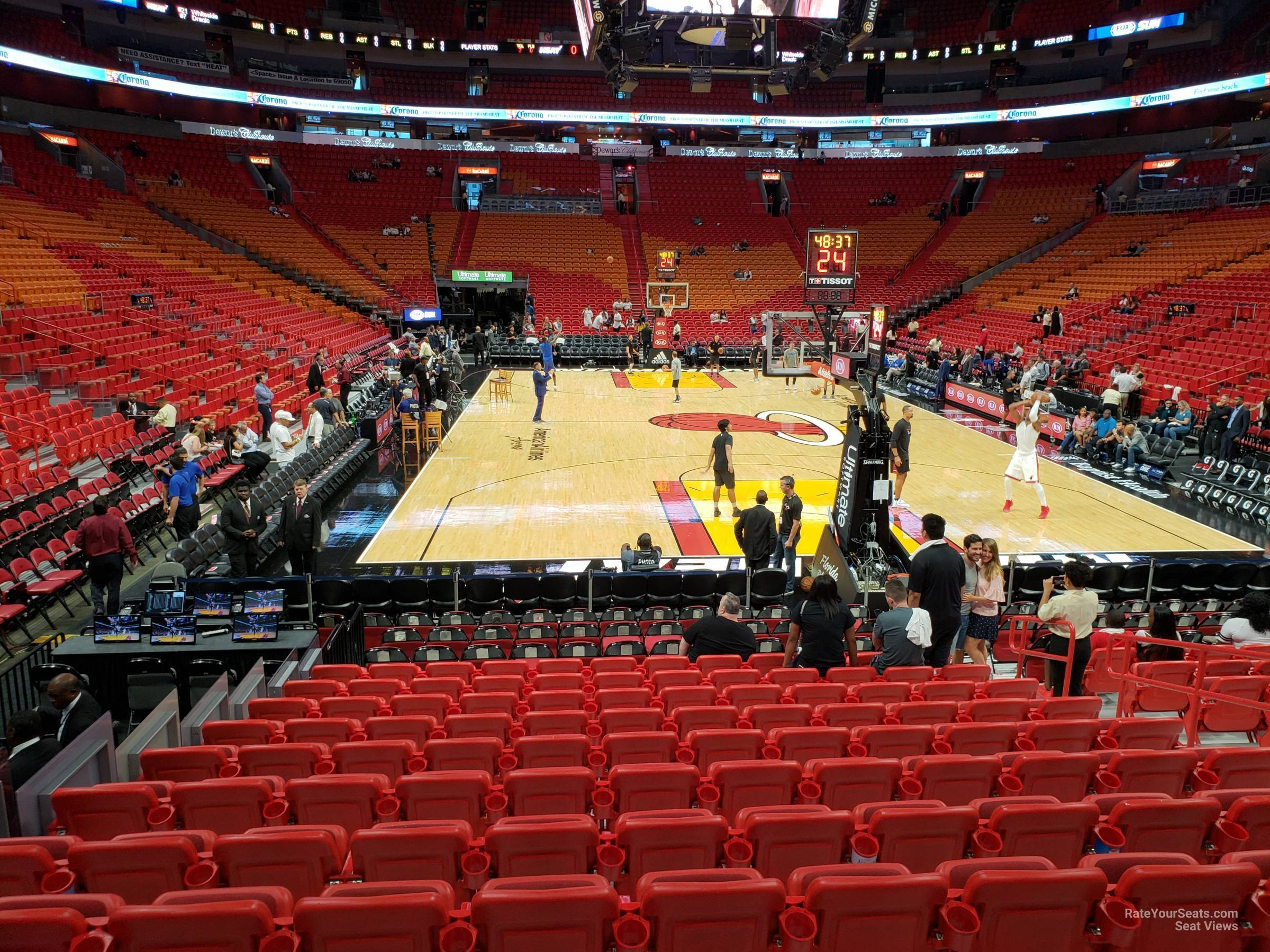 section 113 at americanairlines arena - miami heat