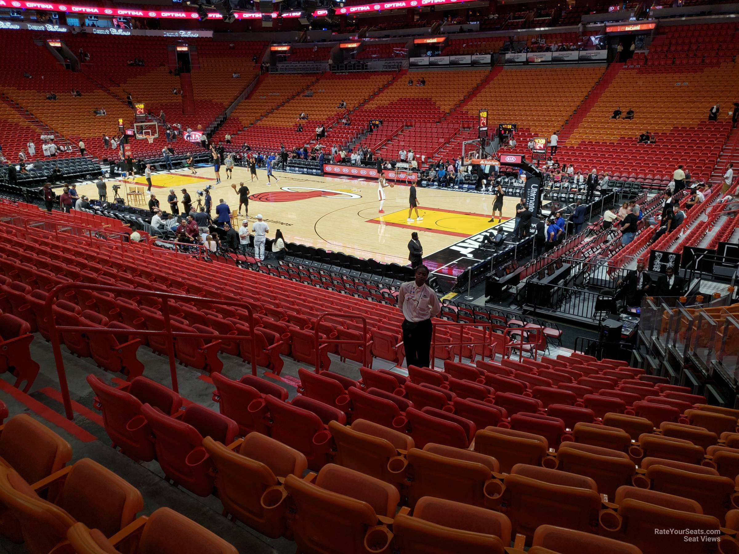 section 116 at americanairlines arena - miami heat