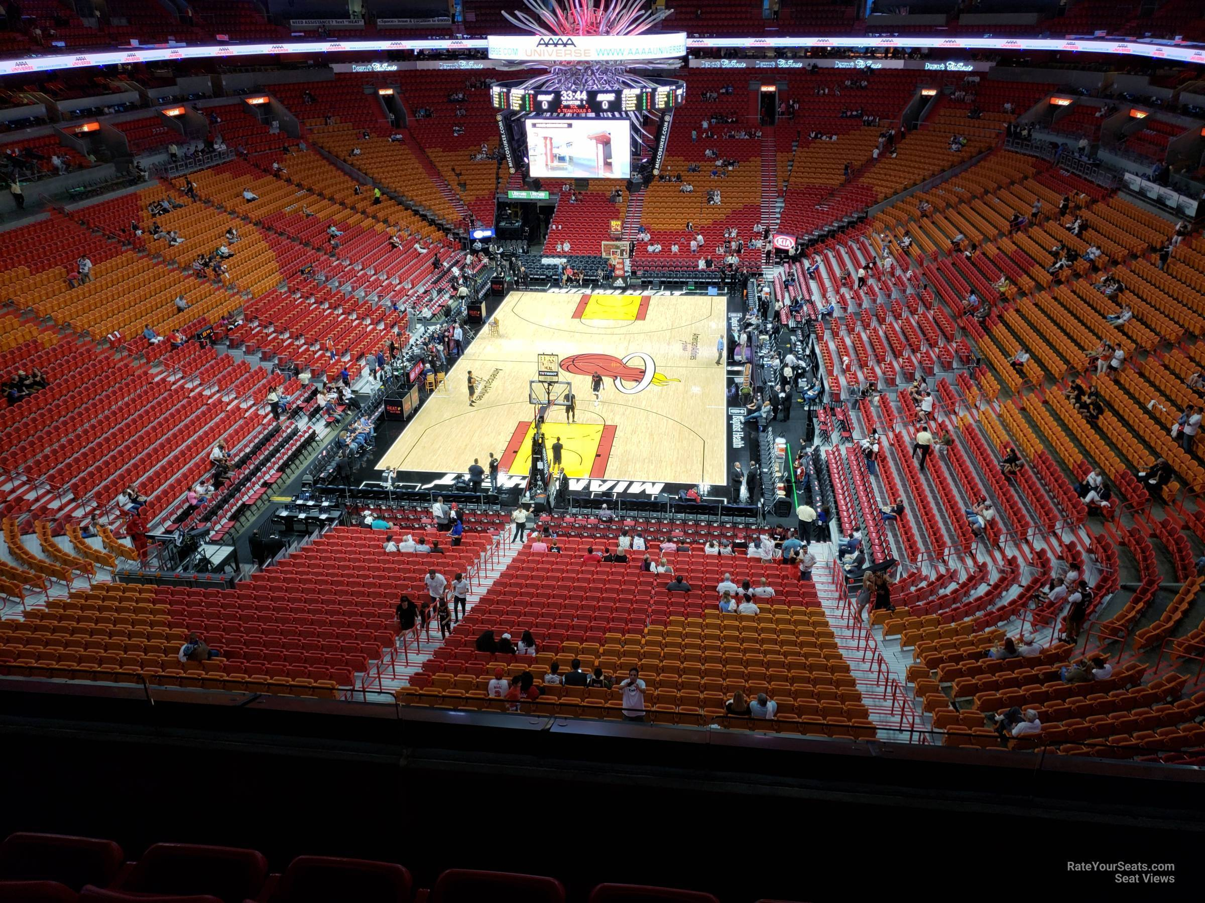 section 316 at americanairlines arena - miami heat