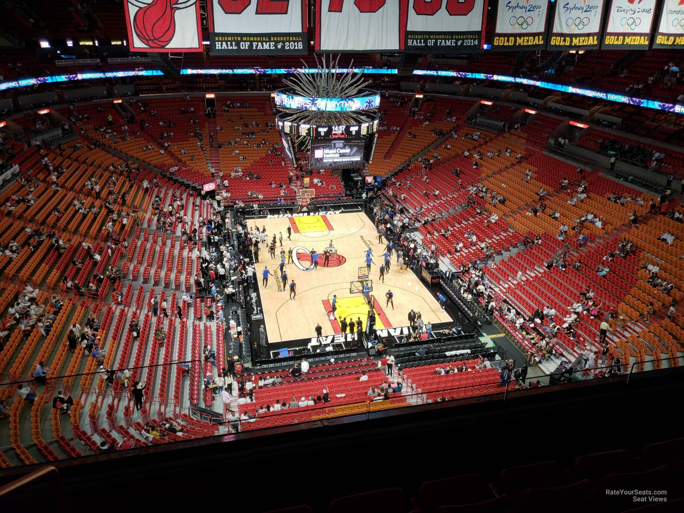 americanairlines arena section 406 - miami heat