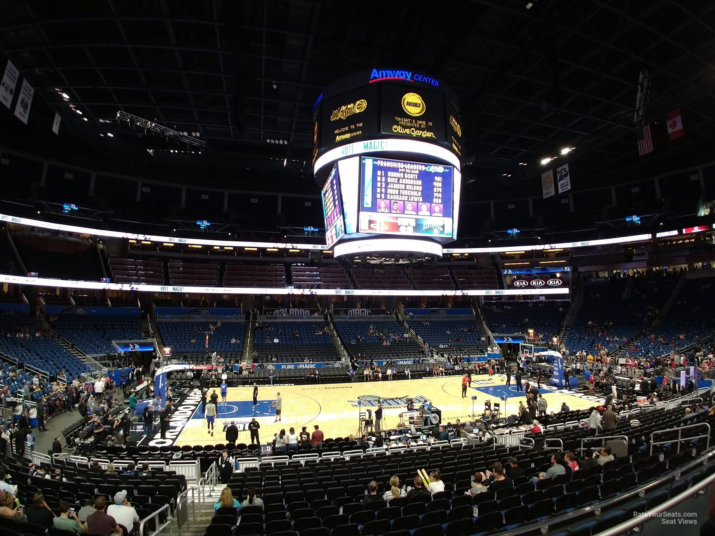 Seat View for Amway Center Section 106, Row 16