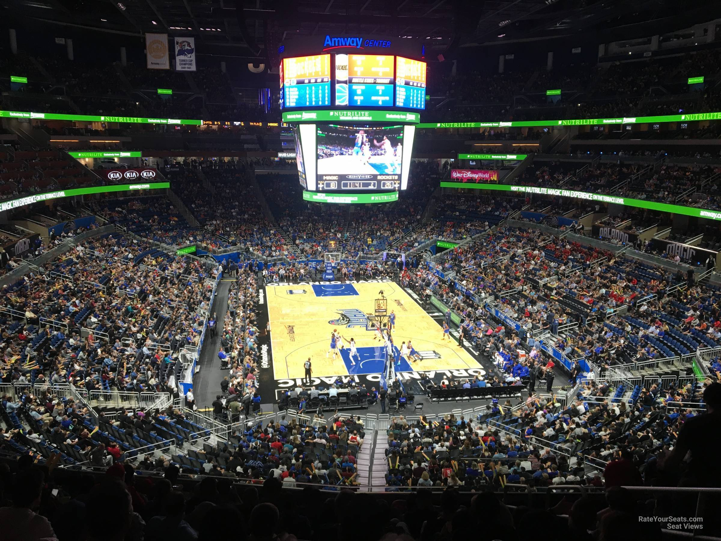 Seat View for Amway Center Section 111A, Row 28