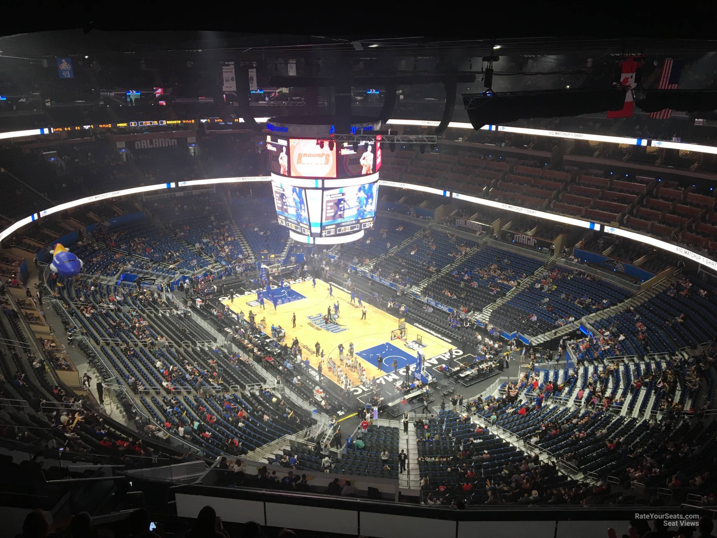 Seat View for Amway Center Section 204, Row 16