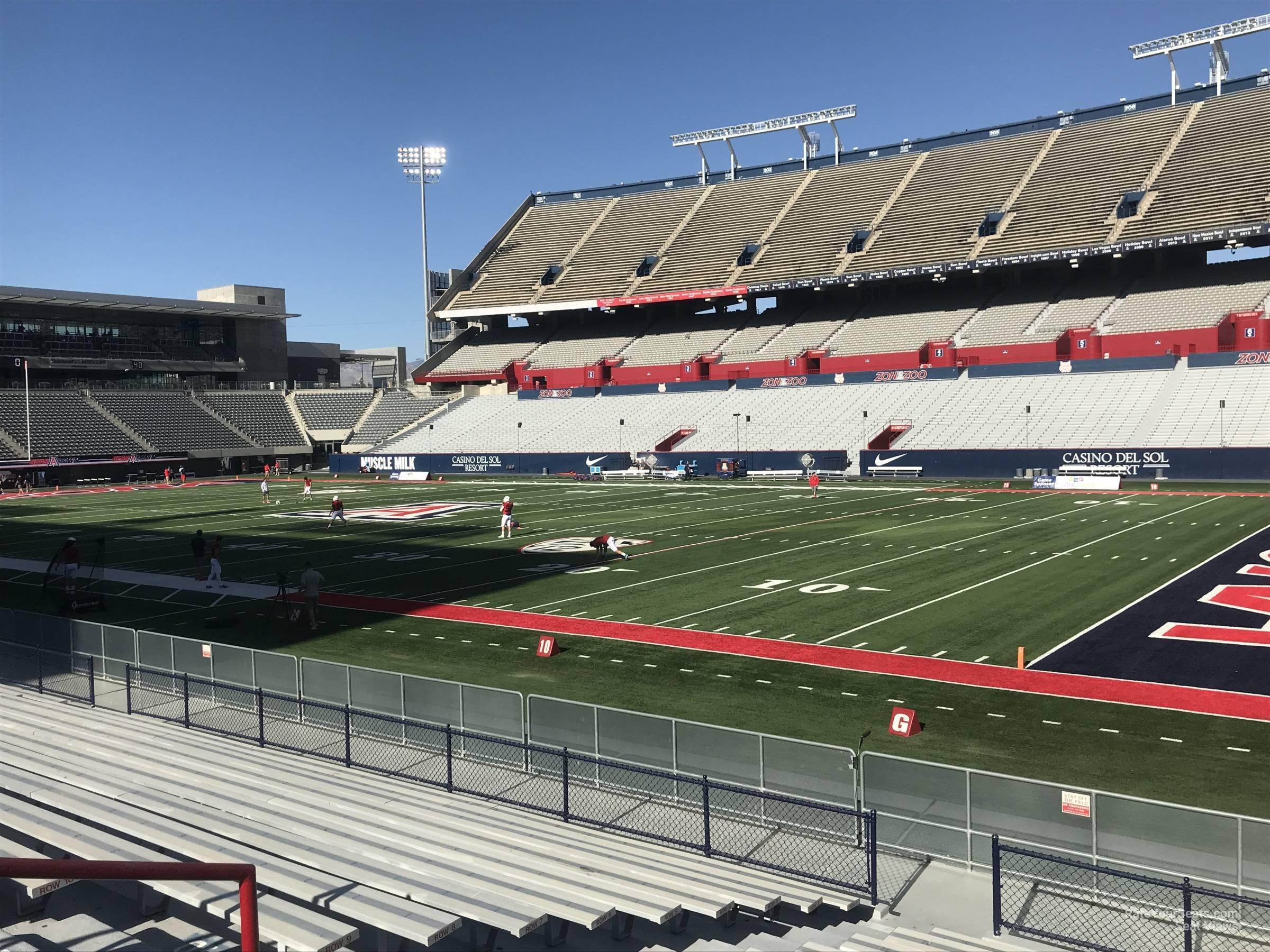 Arizona Stadium Section 17 Rateyourseatscom