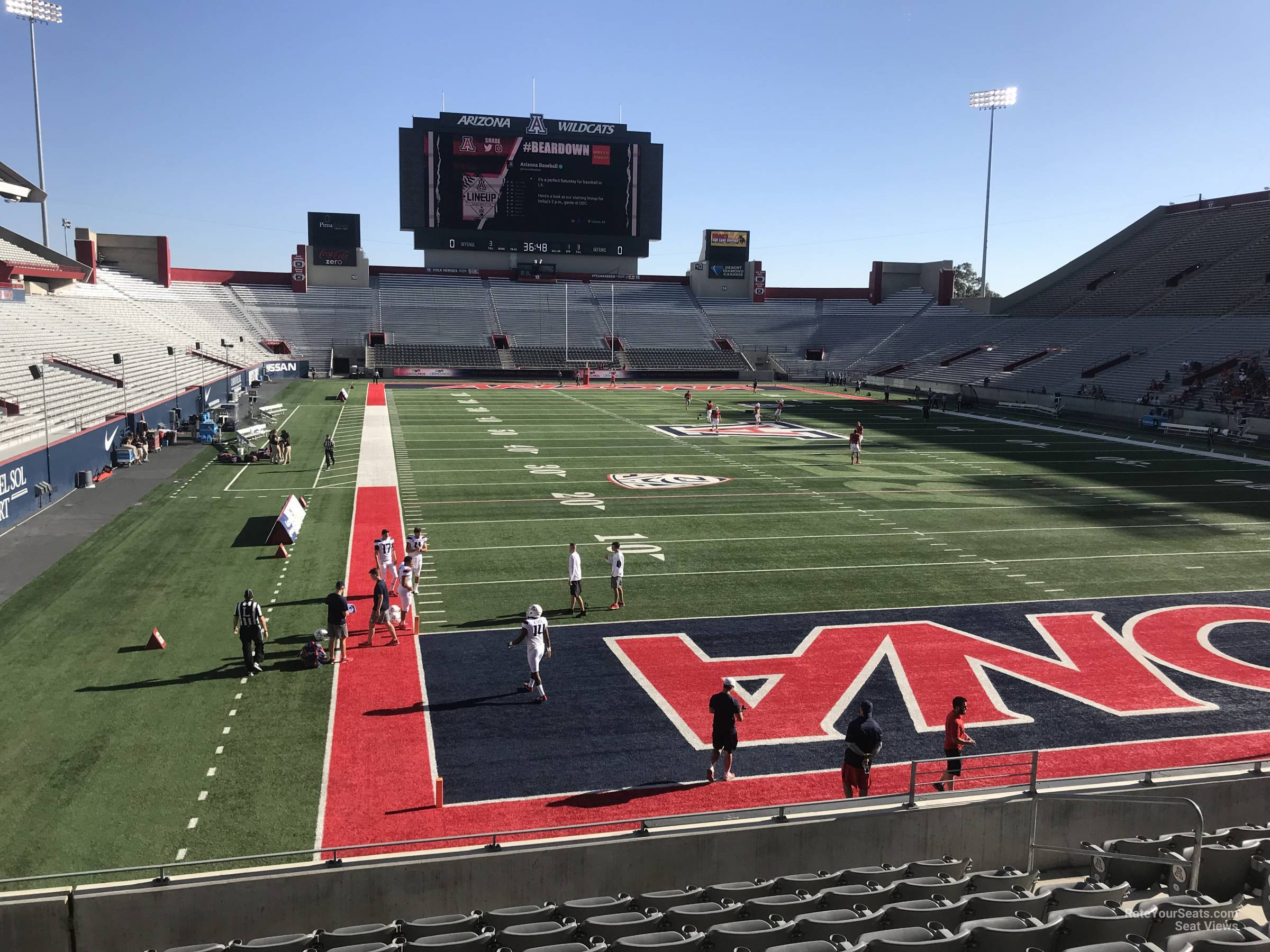 Seat View for Arizona Stadium Section 33, Row 10